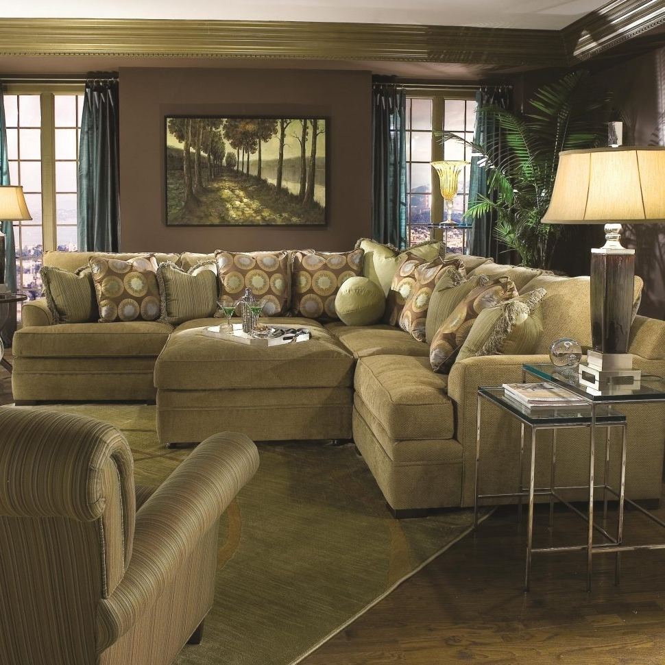 Sectionals With Oversized Ottoman Intended For 2019 Furniture : Sectional With Chaise Oversized Sectionals Large Sofas (View 17 of 20)