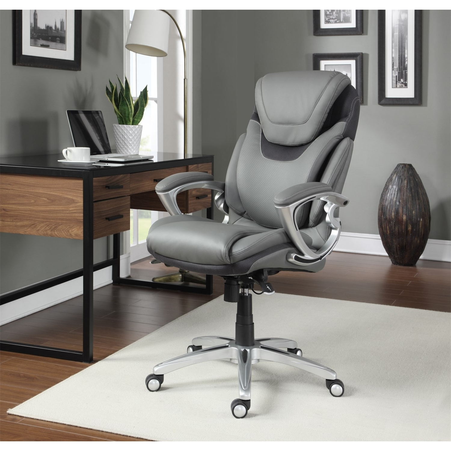 Serta At Home 43807 Air Health And Wellness Executive Office Chair For Famous Executive Office Chairs (View 20 of 20)