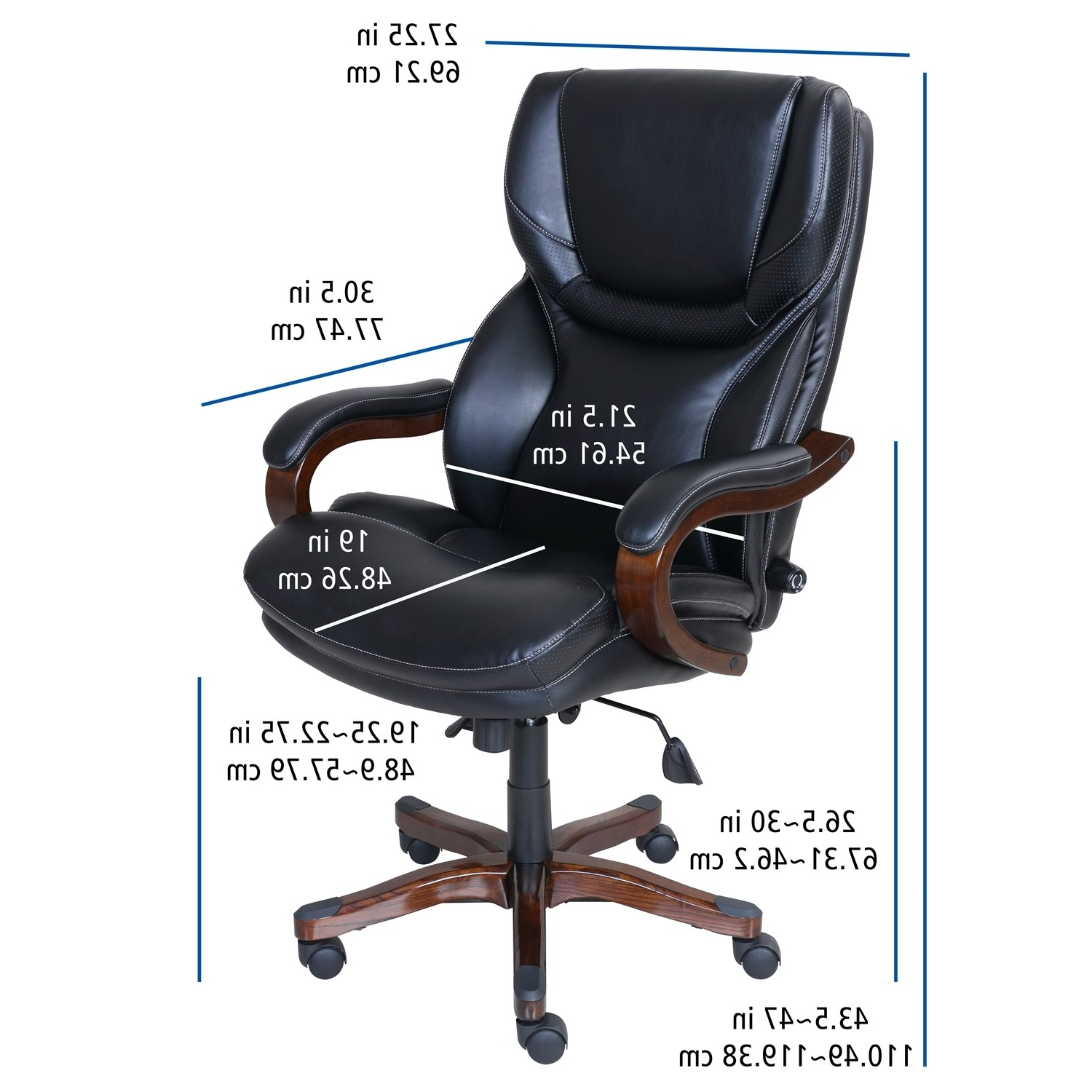 Serta At Home 46859 Executive Office Chair In Black With Bonded In 2019 Black Executive Office Chairs (Gallery 17 of 20)