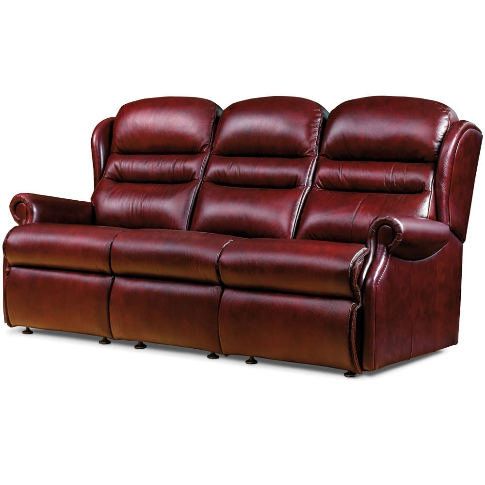 Sherborne Ashford 3 Seater Leather Sofa – Sherborne Price List In Well Liked 3 Seater Leather Sofas (View 16 of 20)