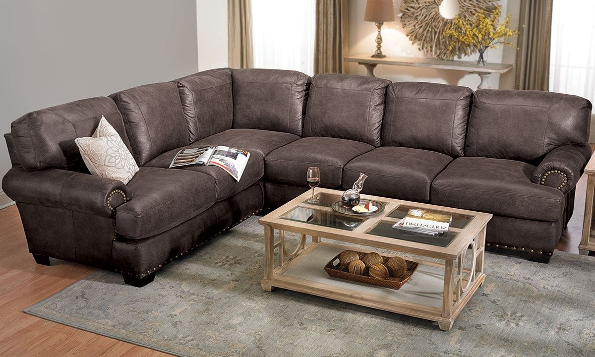 Shogun Sectional Sofa With Nail Head Trim (View 18 of 20)