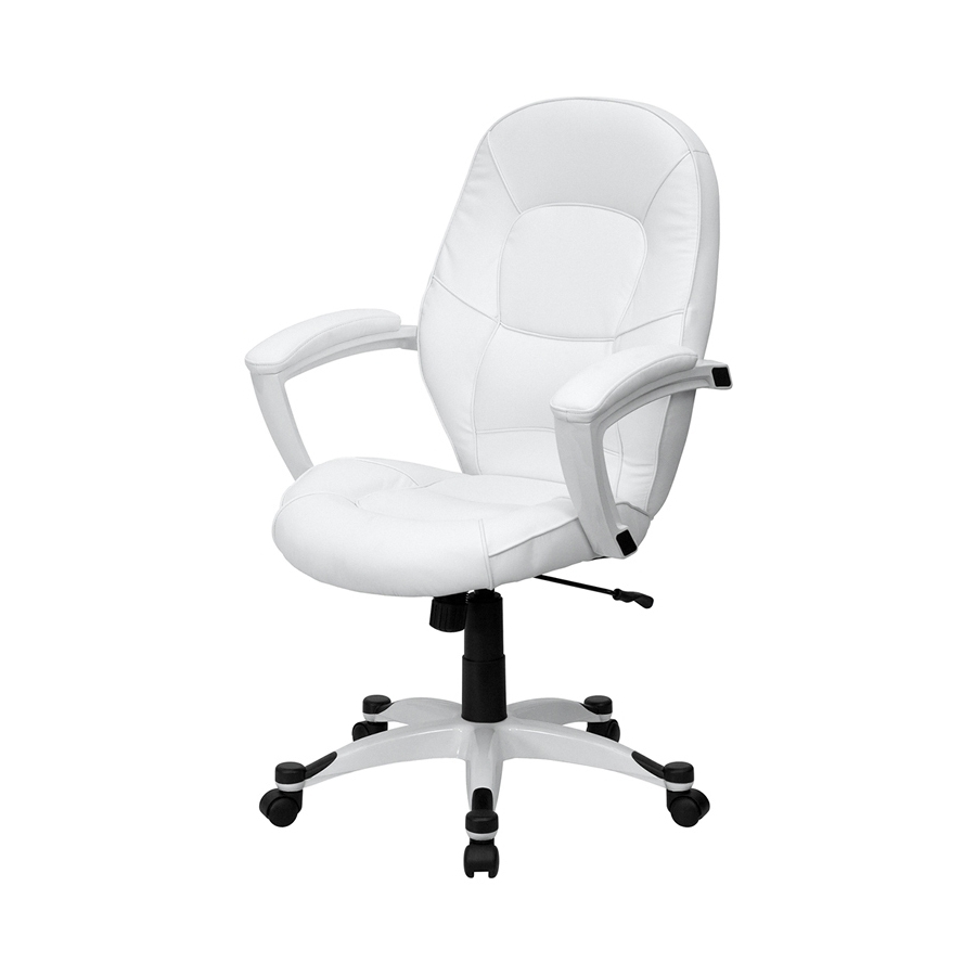 Shop Flash Furniture White Contemporary Executive Chair At Lowes Inside Widely Used Executive Desk Chair Without Arms (View 17 of 20)