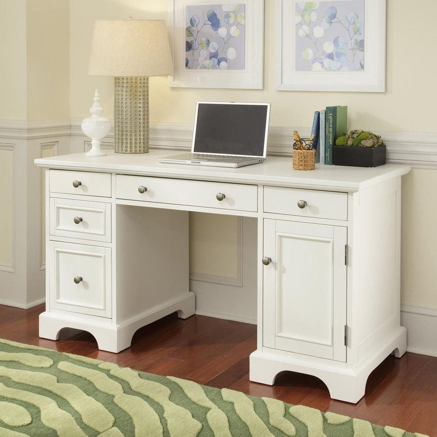 Shop Home Styles Naples Transitional Computer Desk At Lowes Intended For Most Popular White Computer Desks (View 17 of 20)