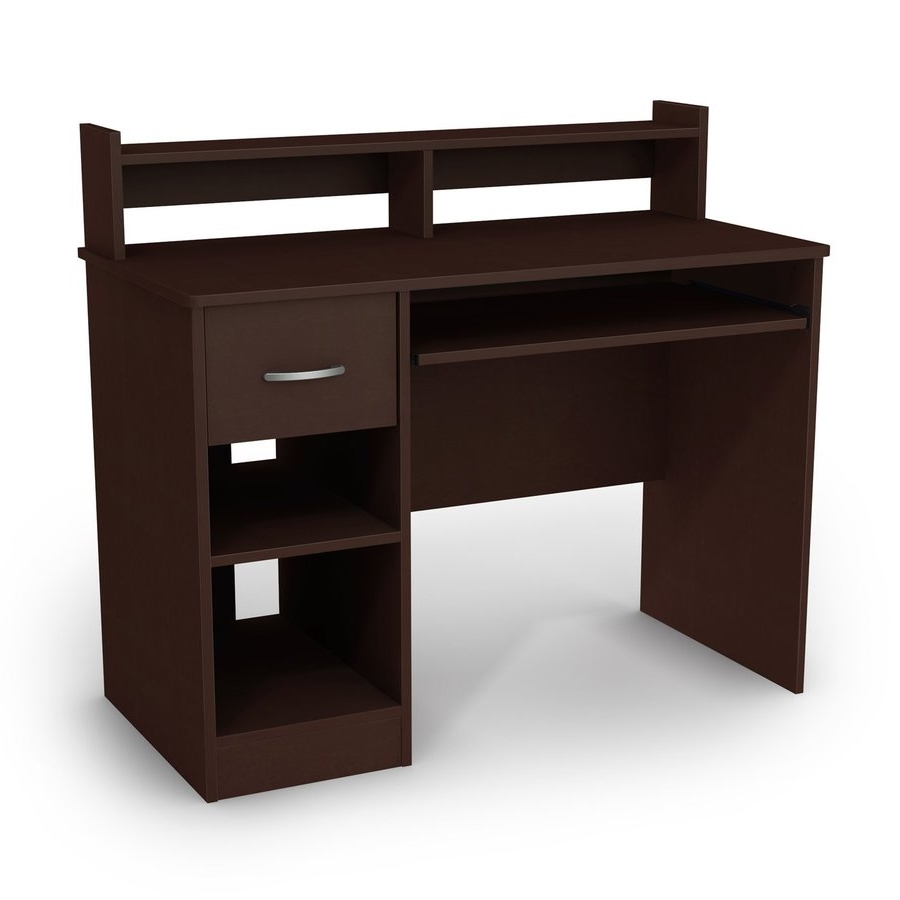Shop South Shore Furniture Axes Contemporary Chocolate Computer Inside 2019 Computer Desks At Lowes (View 16 of 20)
