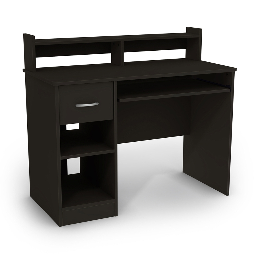 Shop South Shore Furniture Axes Contemporary Pure Black Computer Throughout Latest Black Computer Desks (View 18 of 20)