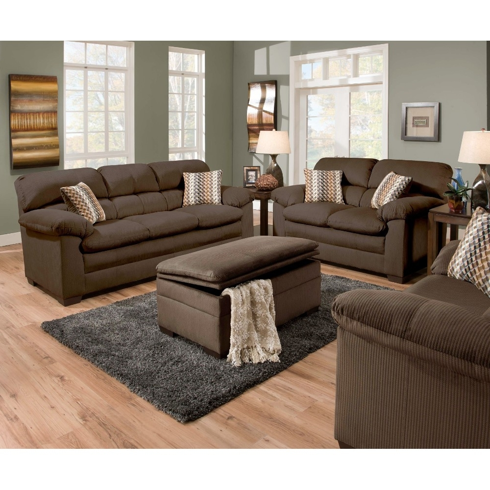 Shown As Set – Loveseat, Ottoman And Chair Sold Separately (View 19 of 20)