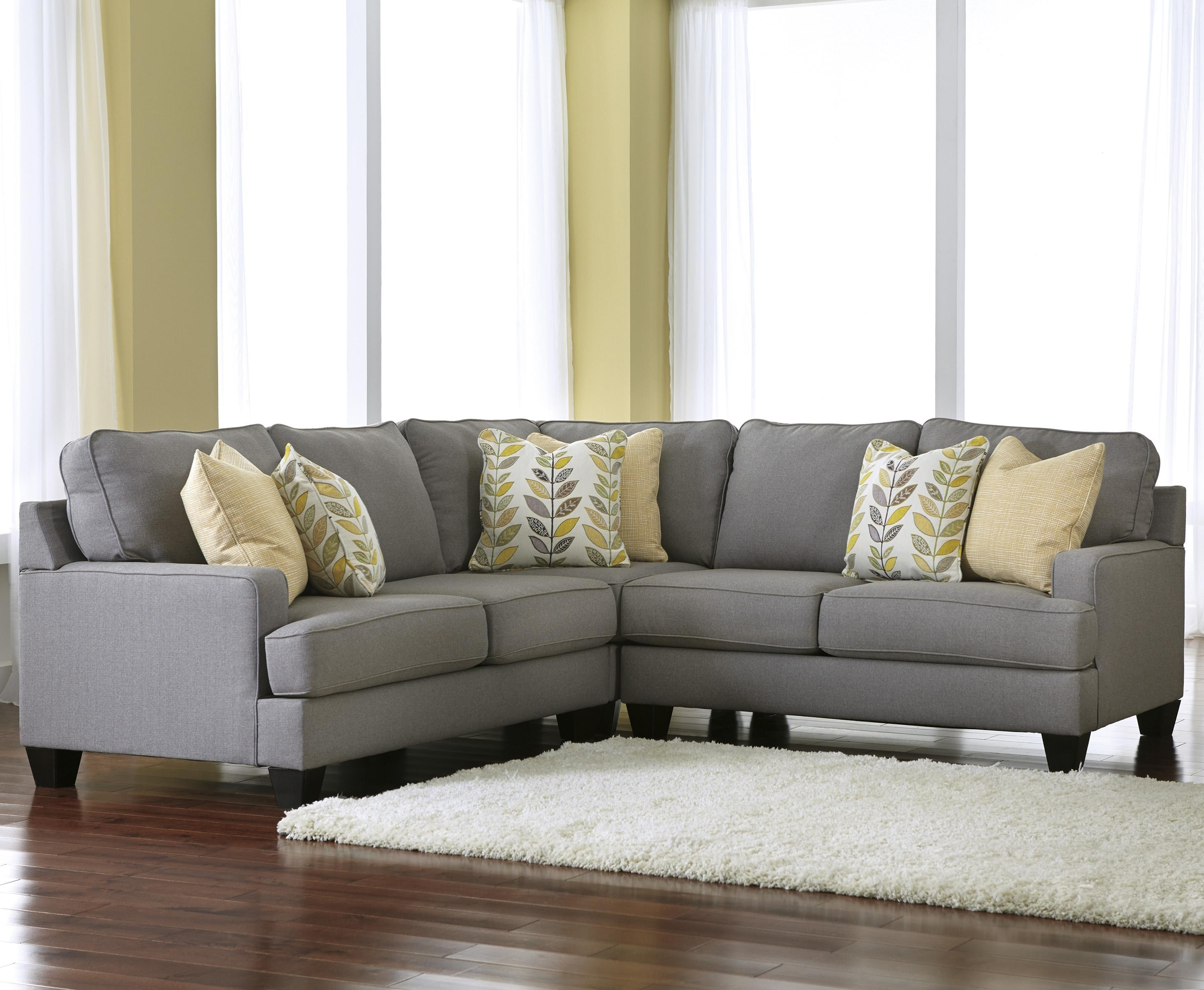 Signature Designashley Chamberly – Alloy Modern 3 Piece Corner With Widely Used Sectional Sofas In Greenville Sc (View 16 of 20)
