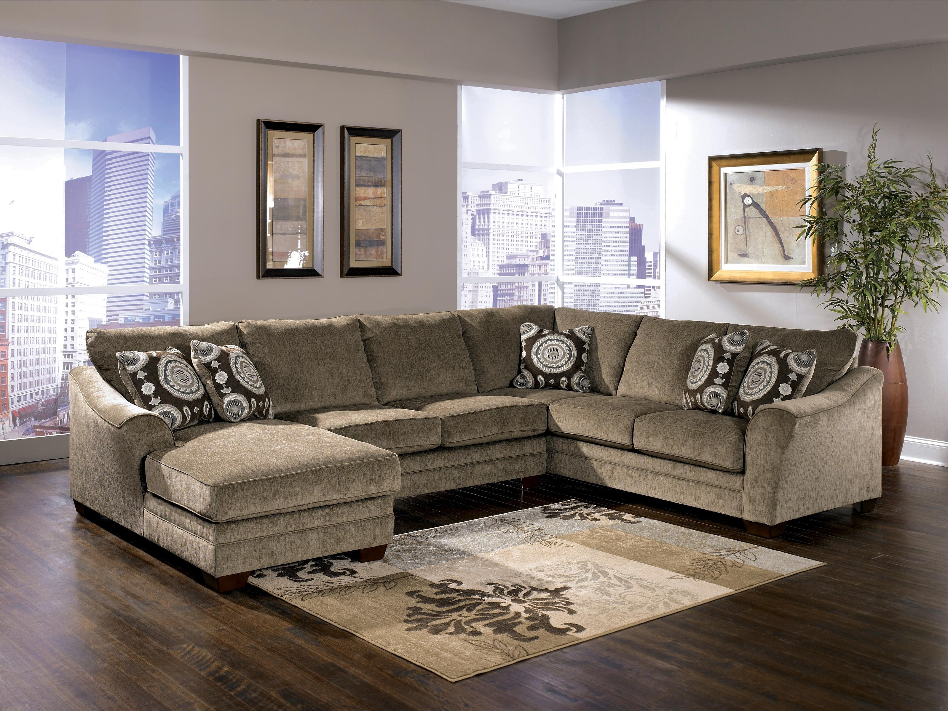 Signature Designashley Cosmo – Marble Sectional Sofa With In Famous Peterborough Ontario Sectional Sofas (View 13 of 20)