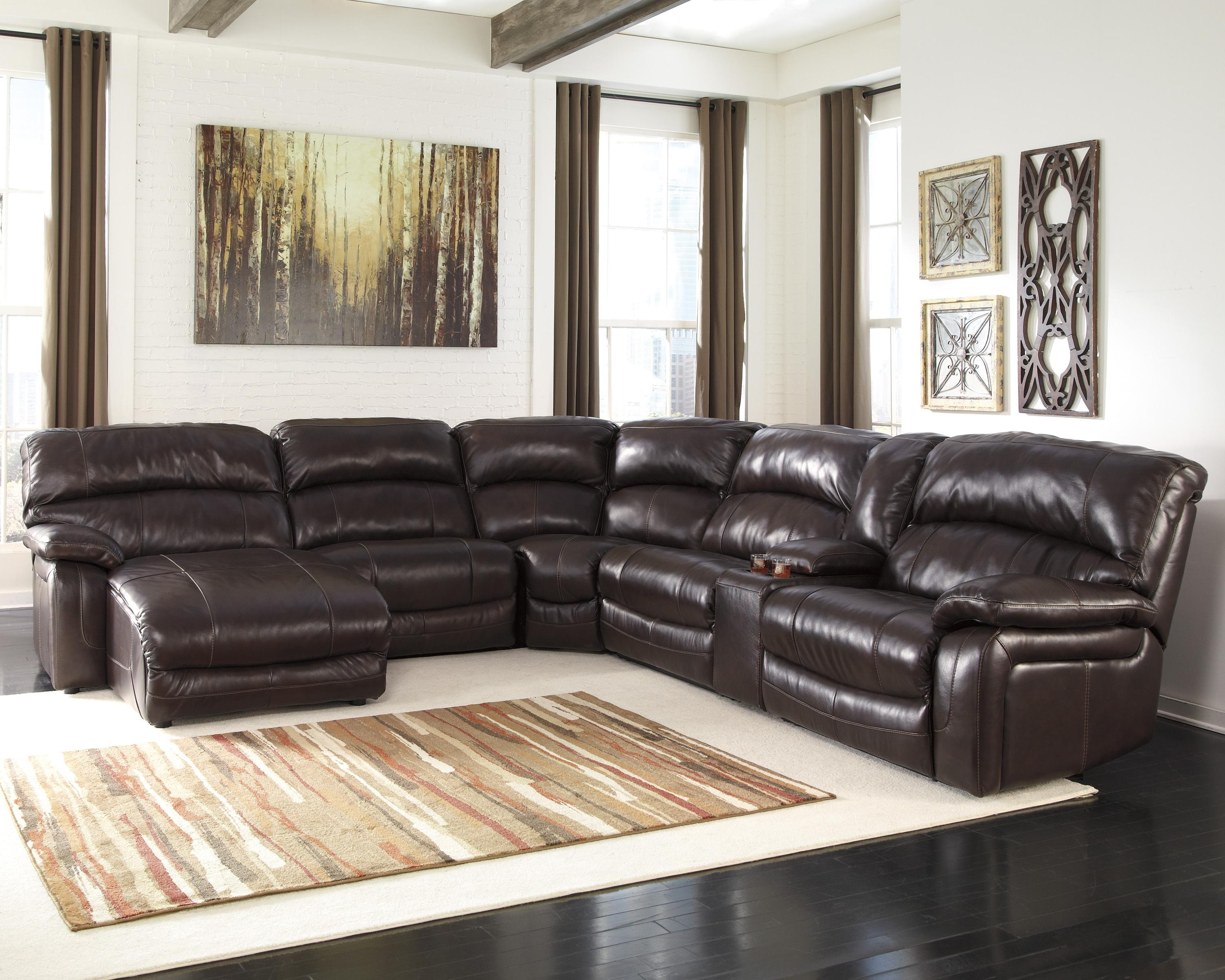 Signature Designashley Damacio – Dark Brown Reclining For Most Current Jackson Tn Sectional Sofas (View 15 of 20)