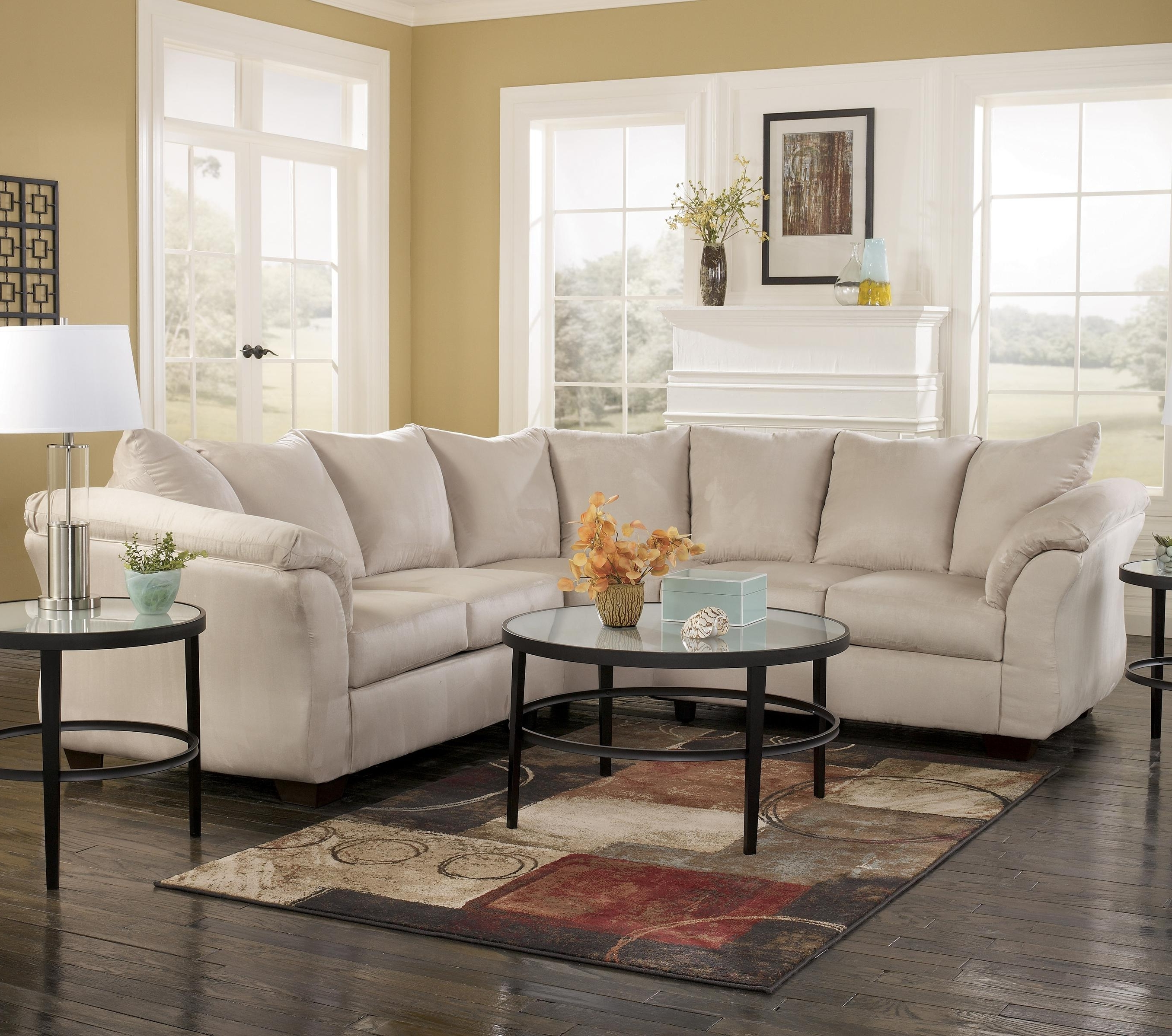 Signature Designashley Darcy – Stone Contemporary Sectional Inside Fashionable 102X102 Sectional Sofas (View 16 of 20)