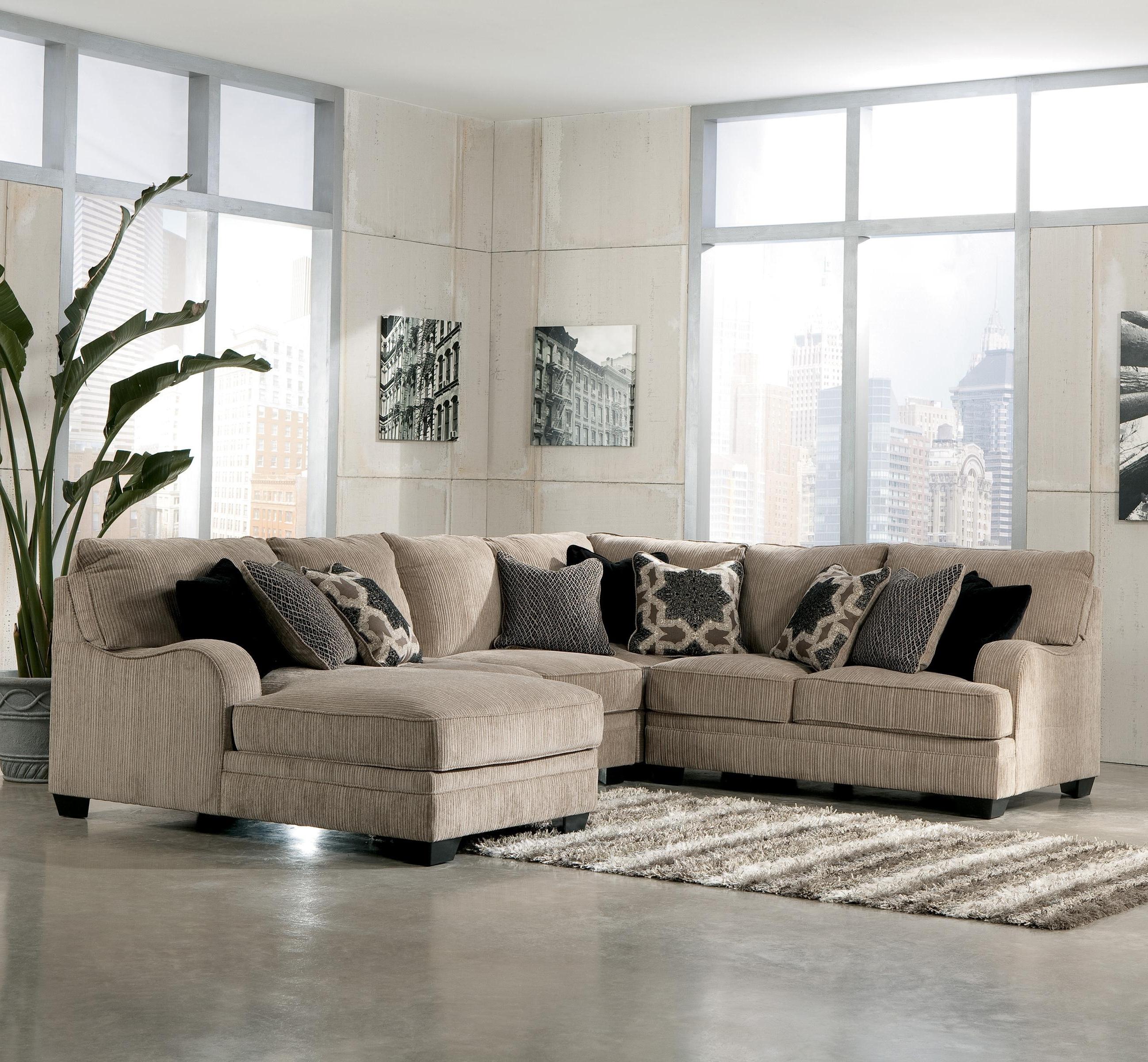 Signature Designashley Katisha – Platinum 4 Piece Sectional Regarding Trendy Killeen Tx Sectional Sofas (View 18 of 20)