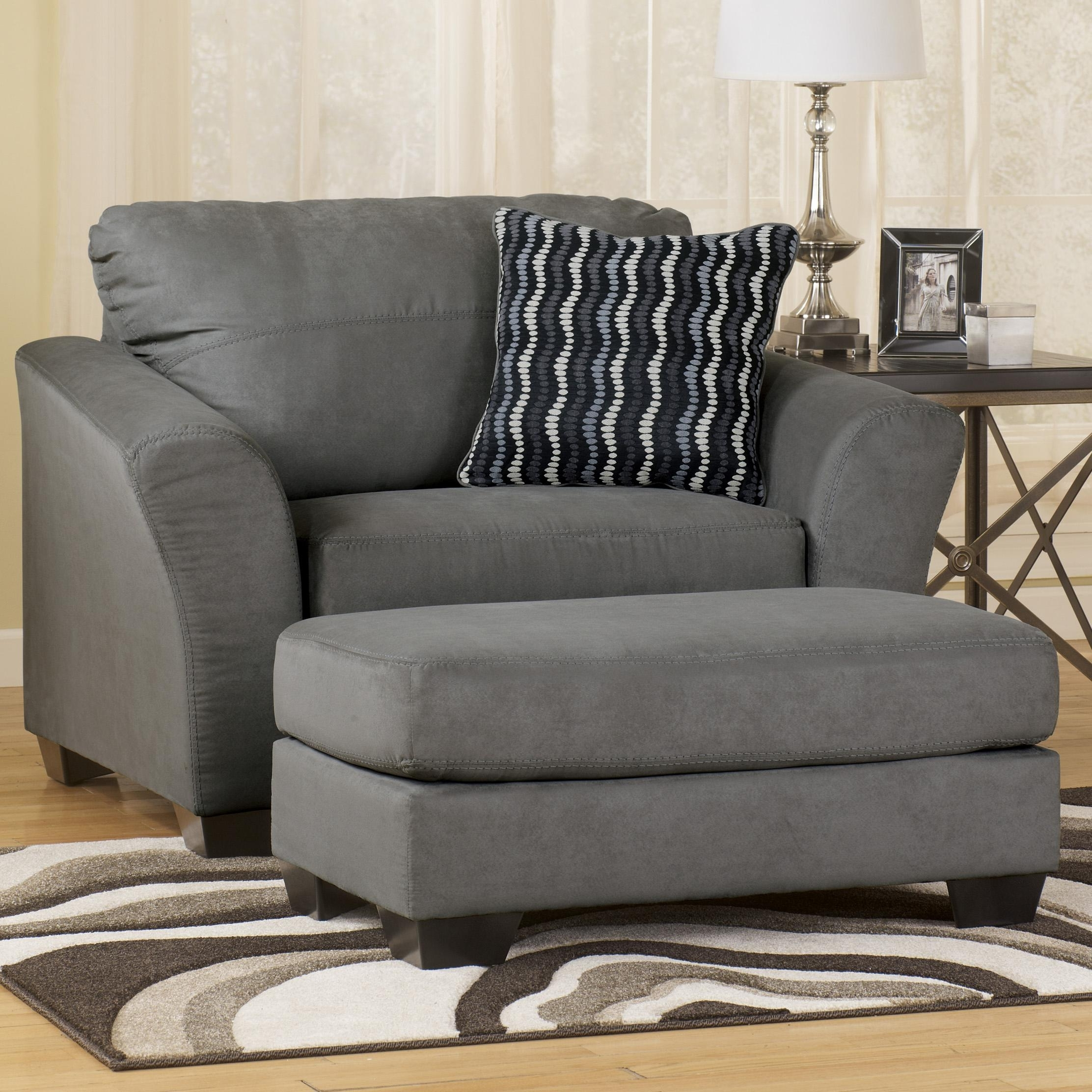 Signature Designashley Lexi – Cobblestone Contemporary Soft Inside Best And Newest Wide Sofa Chairs (View 3 of 20)