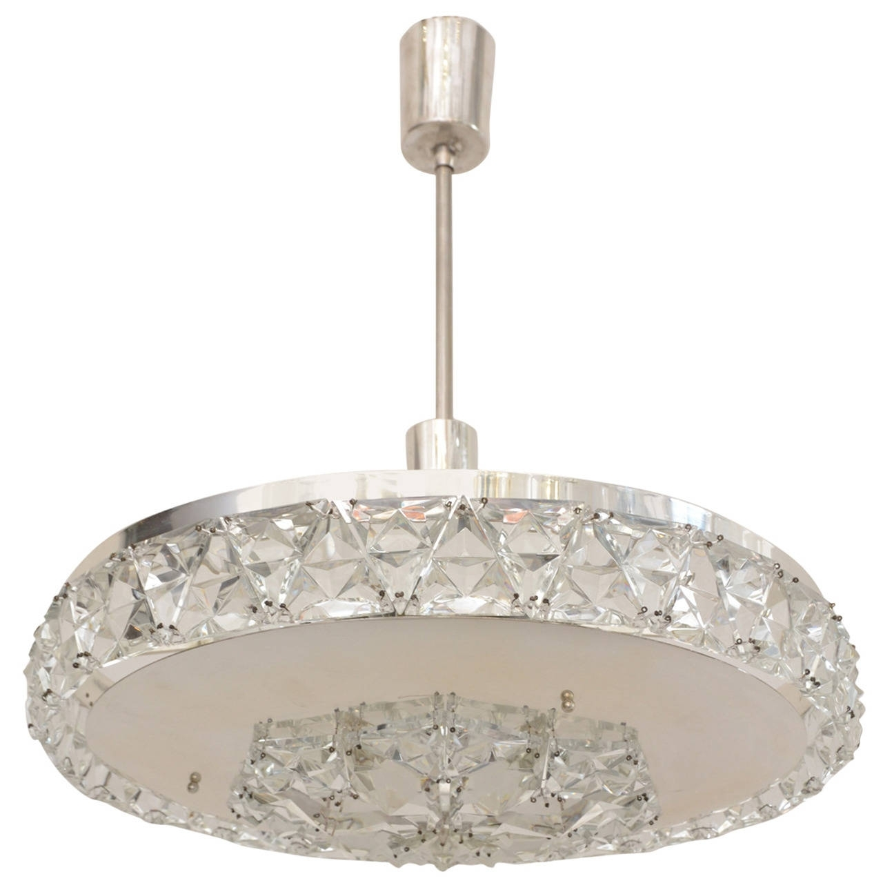Silver Plated Bakalowits Vienna Faceted Crystal Chandelier, 1950s Within Most Recent Vienna Crystal Chandeliers (View 8 of 20)