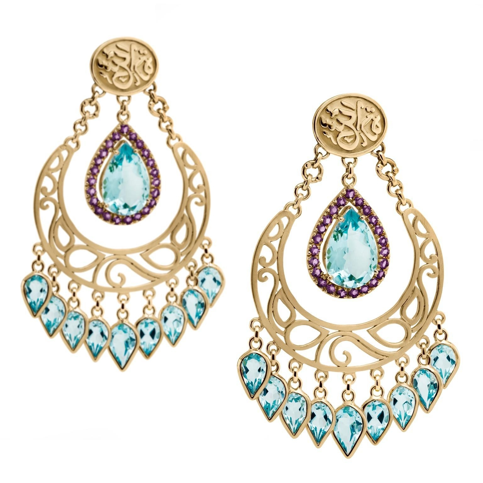 Siman Tu Turquoise Chandelier Earrings Tags : Amazing Luxury For 2019 Turquoise Blue Chandeliers (View 17 of 20)