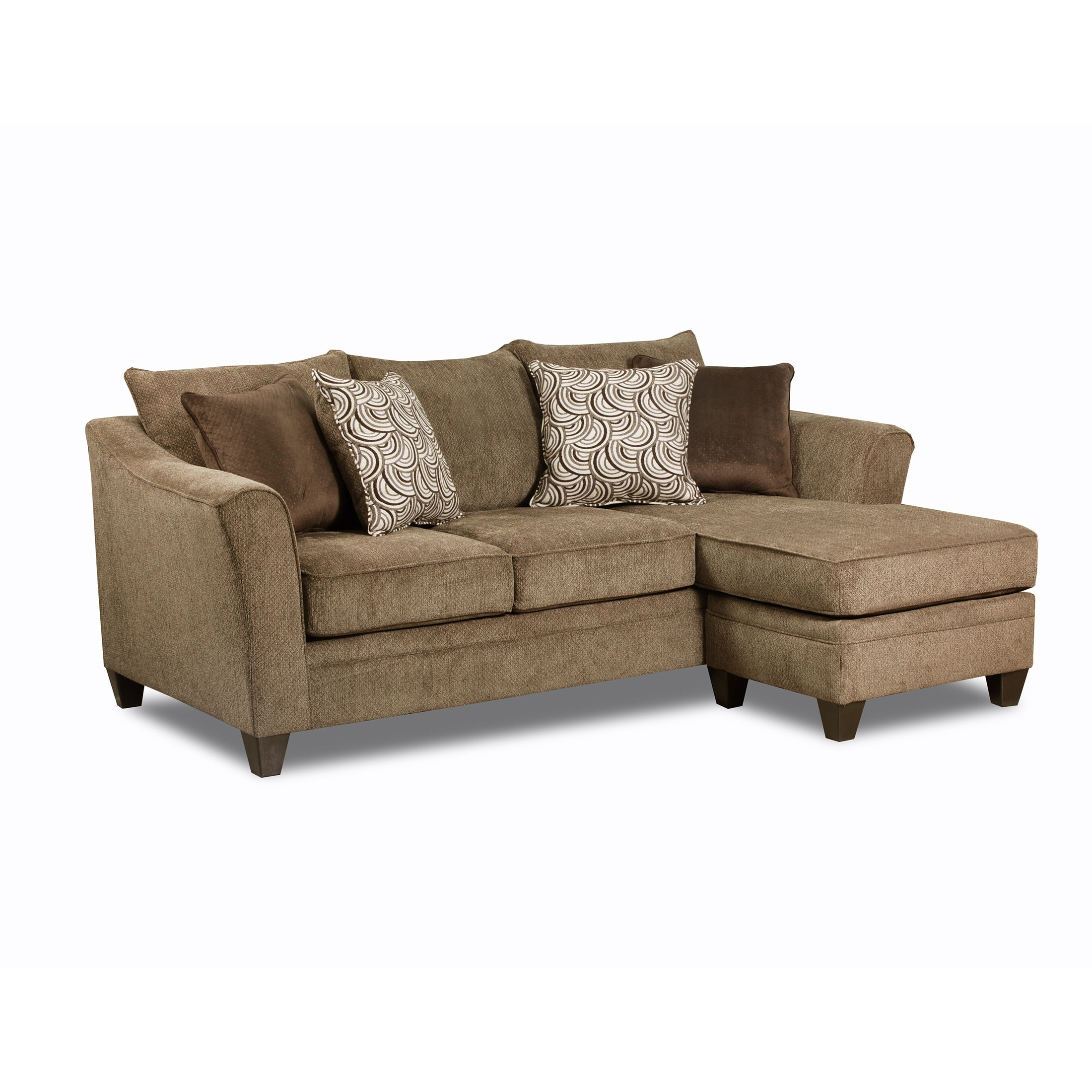 Simmons Chaise Sofas In Well Known Simmons Upholstery Albany Truffle Sofa Chaise – Free Shipping (View 12 of 20)