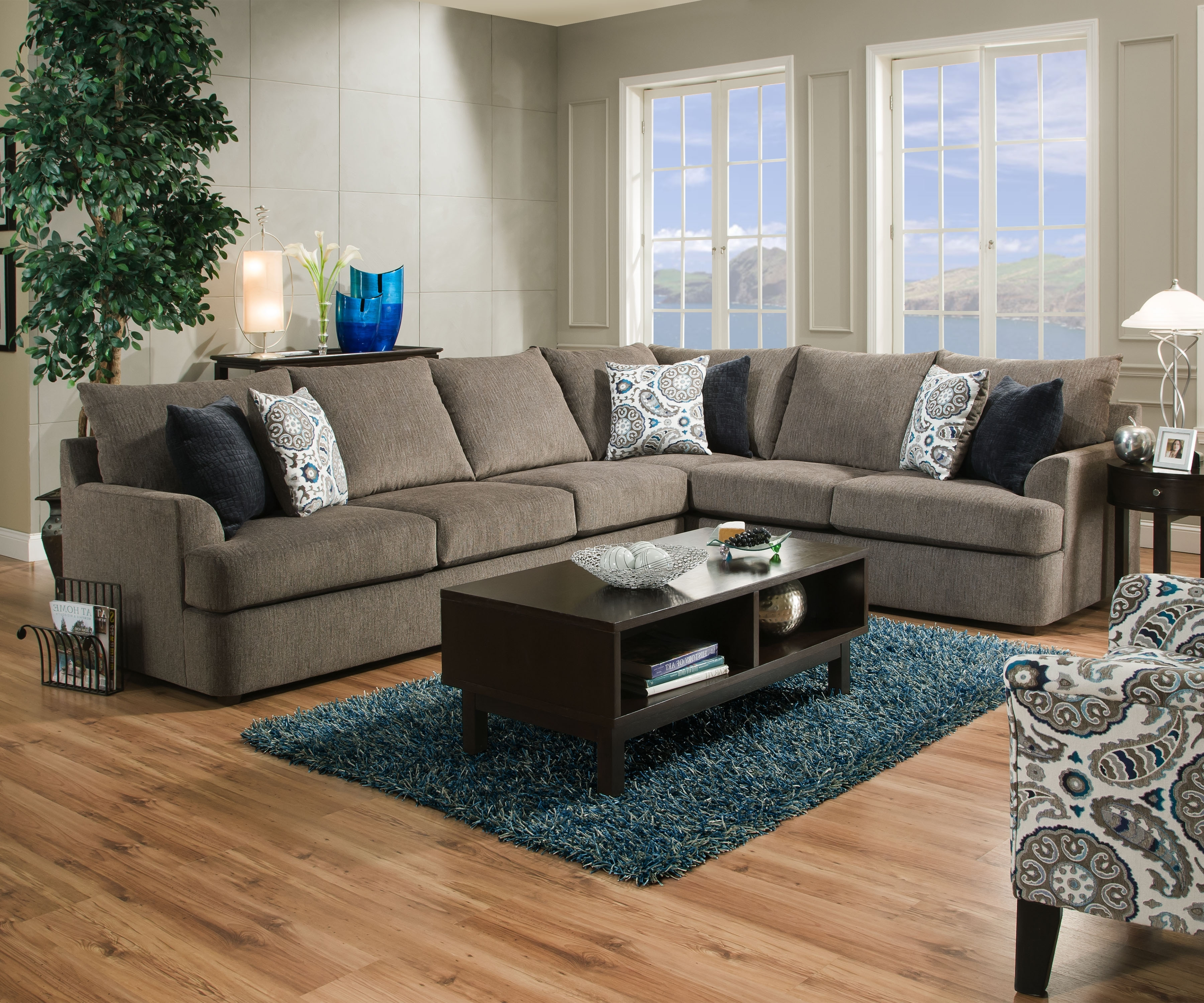 Simmons Sectional Sofas Pertaining To Most Recent 8540 Br – United Furniture Industries (View 13 of 20)
