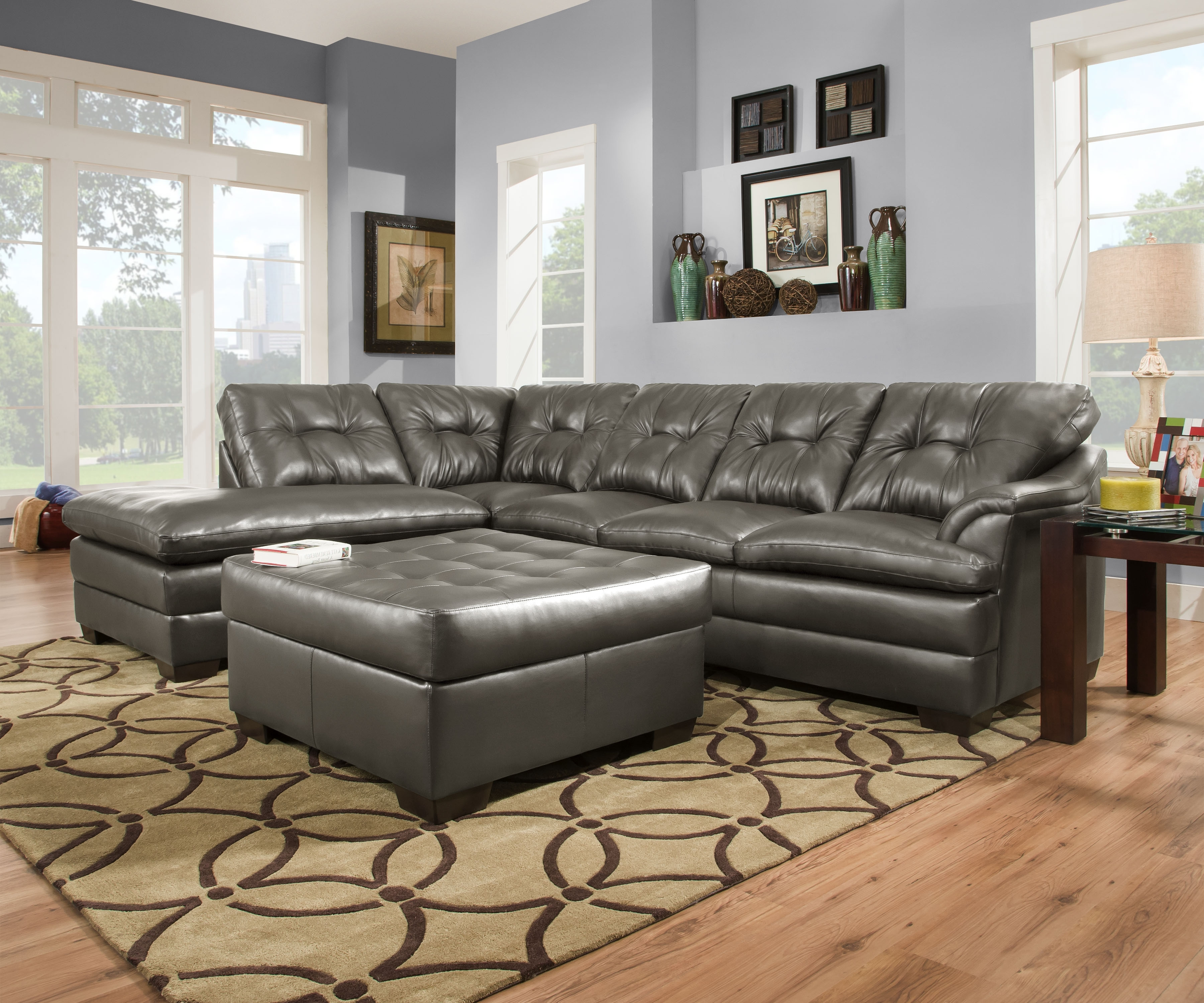 Simmons Sectional Sofas Within Latest Designssimmons – Simmons Apollo Charcoal 2pc Sectional (View 17 of 20)