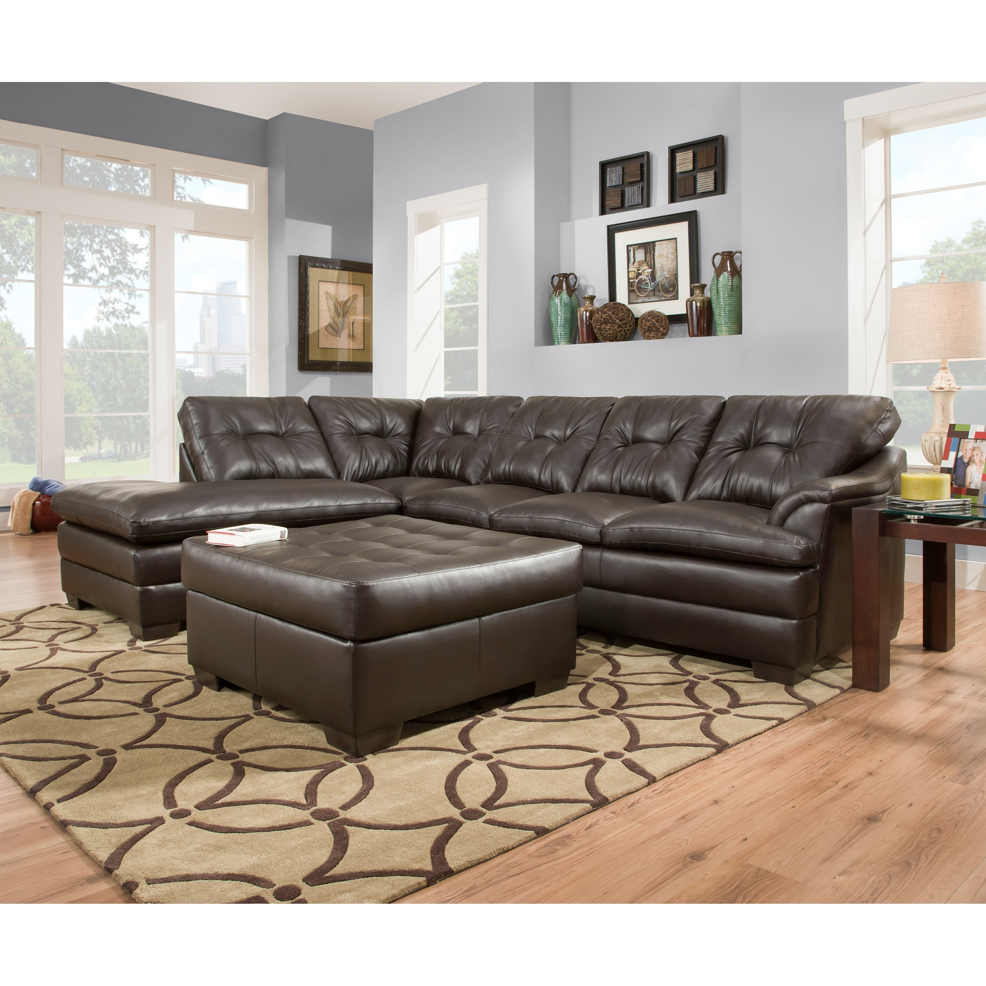 Simmons Sectional Sofas Within Preferred Simmons Upholstery Apollo Sectional With Optional Ottoman (View 15 of 20)