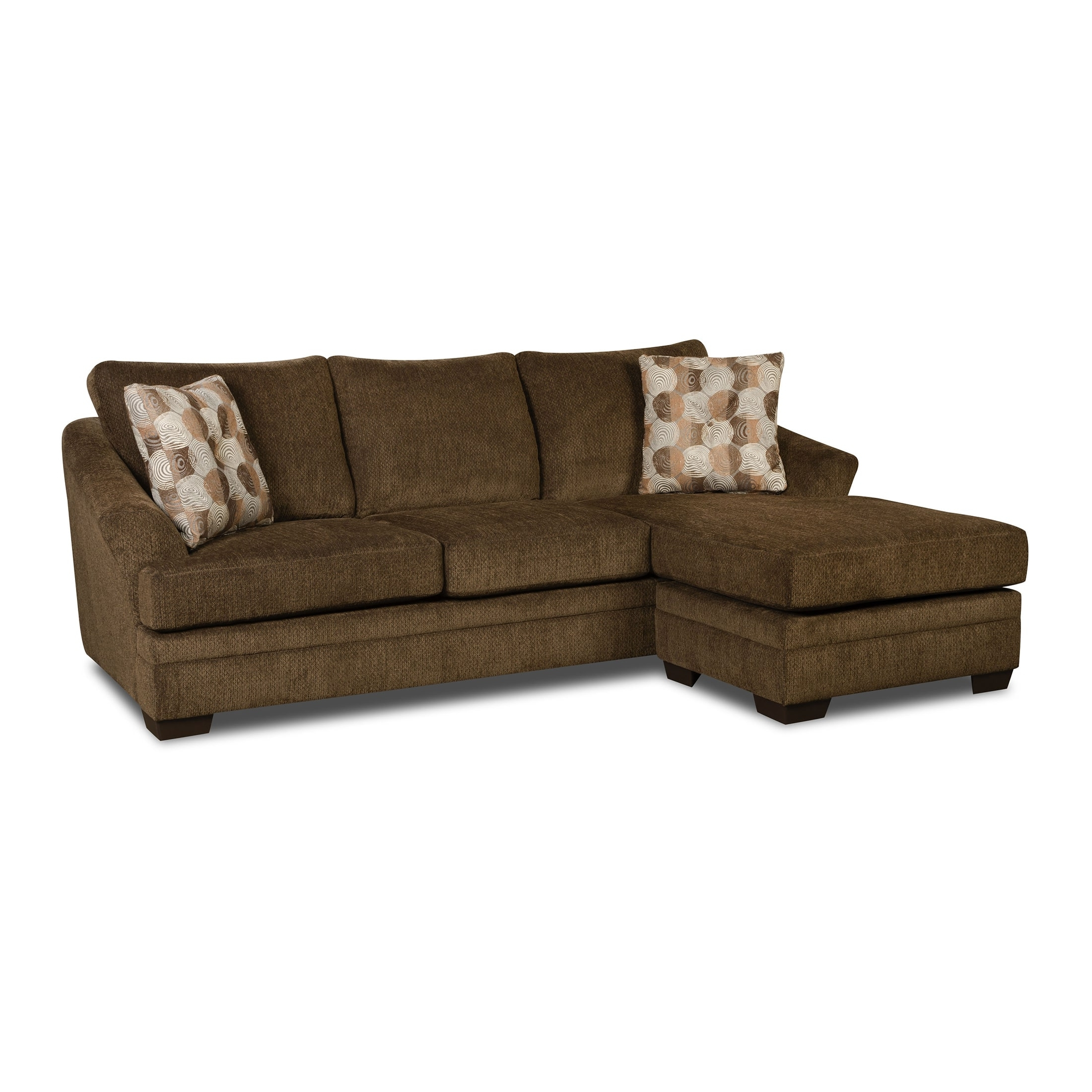 Simmons Upholstery Albany Sofa Chaise – Walmart Throughout Fashionable Simmons Chaise Sofas (View 12 of 20)