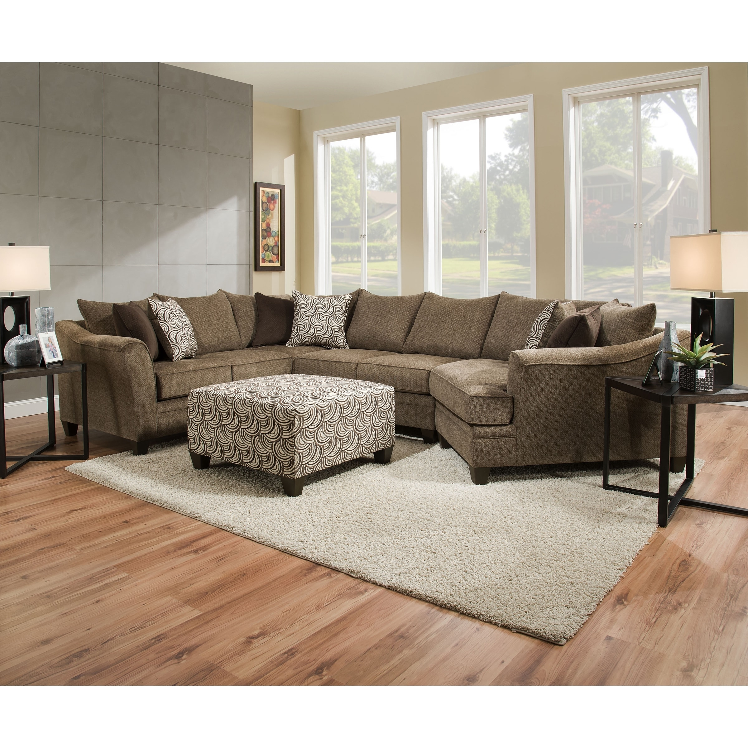 Simmons Upholstery Albany Truffle Sectional – Free Shipping Today In Most Recently Released Simmons Sectional Sofas (View 16 of 20)