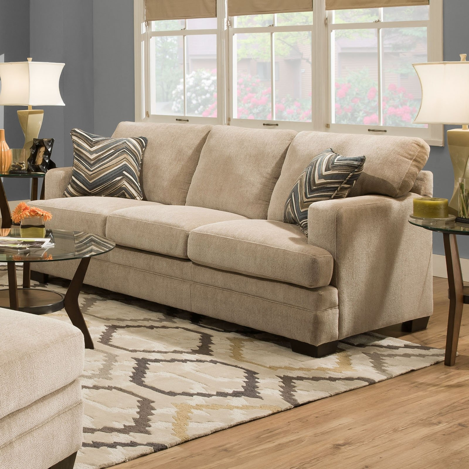 Simmons Upholstery Sassy Sofa – Barley – Walmart With Regard To 2019 Simmons Chaise Sofas (View 6 of 20)