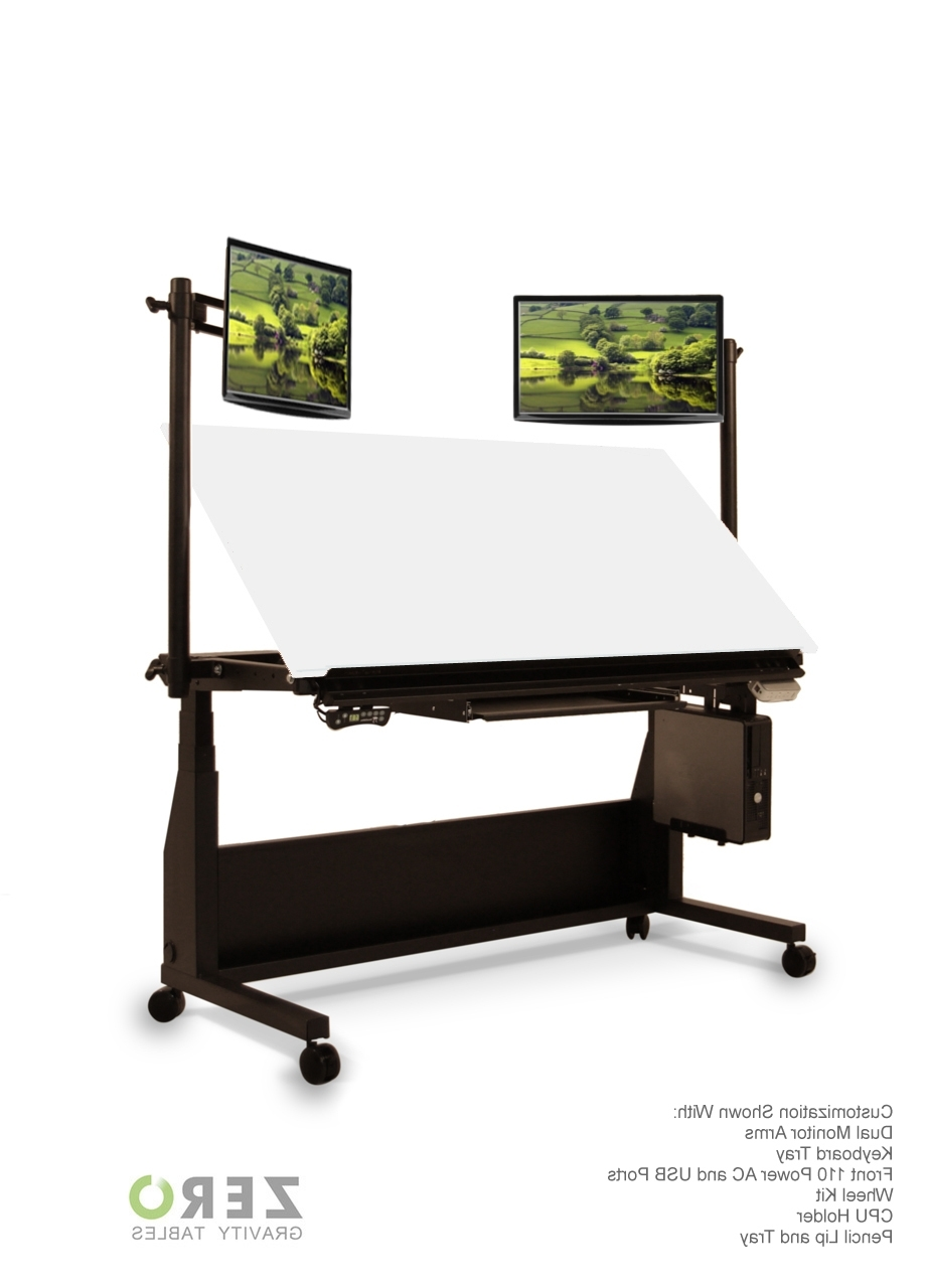 Sit To Stand Draft Desk With Computer Drafting Desks (View 17 of 20)