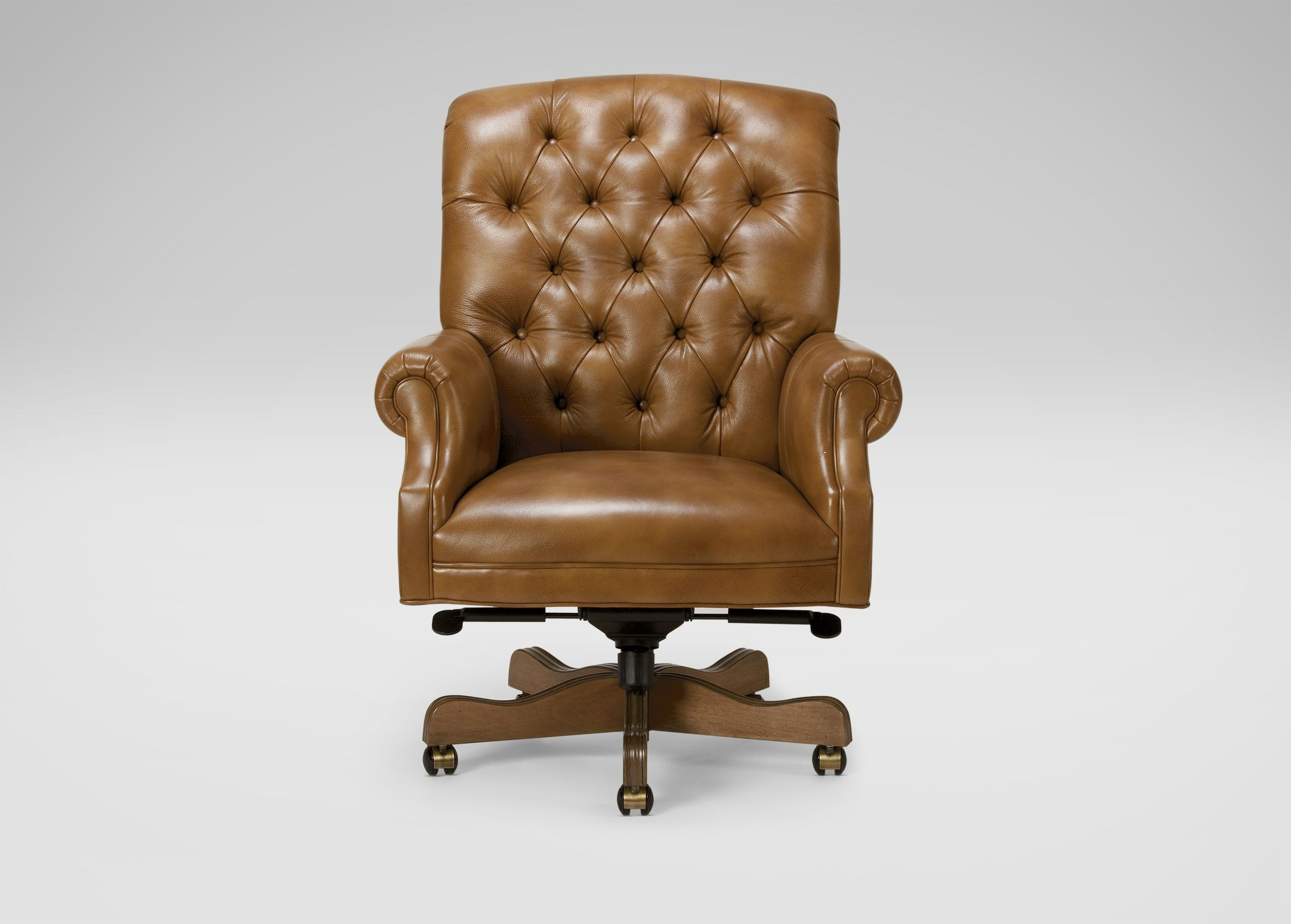 Sleek Style Executive Office Chairs Within Well Known Tanner Leather Desk Chair (View 20 of 20)