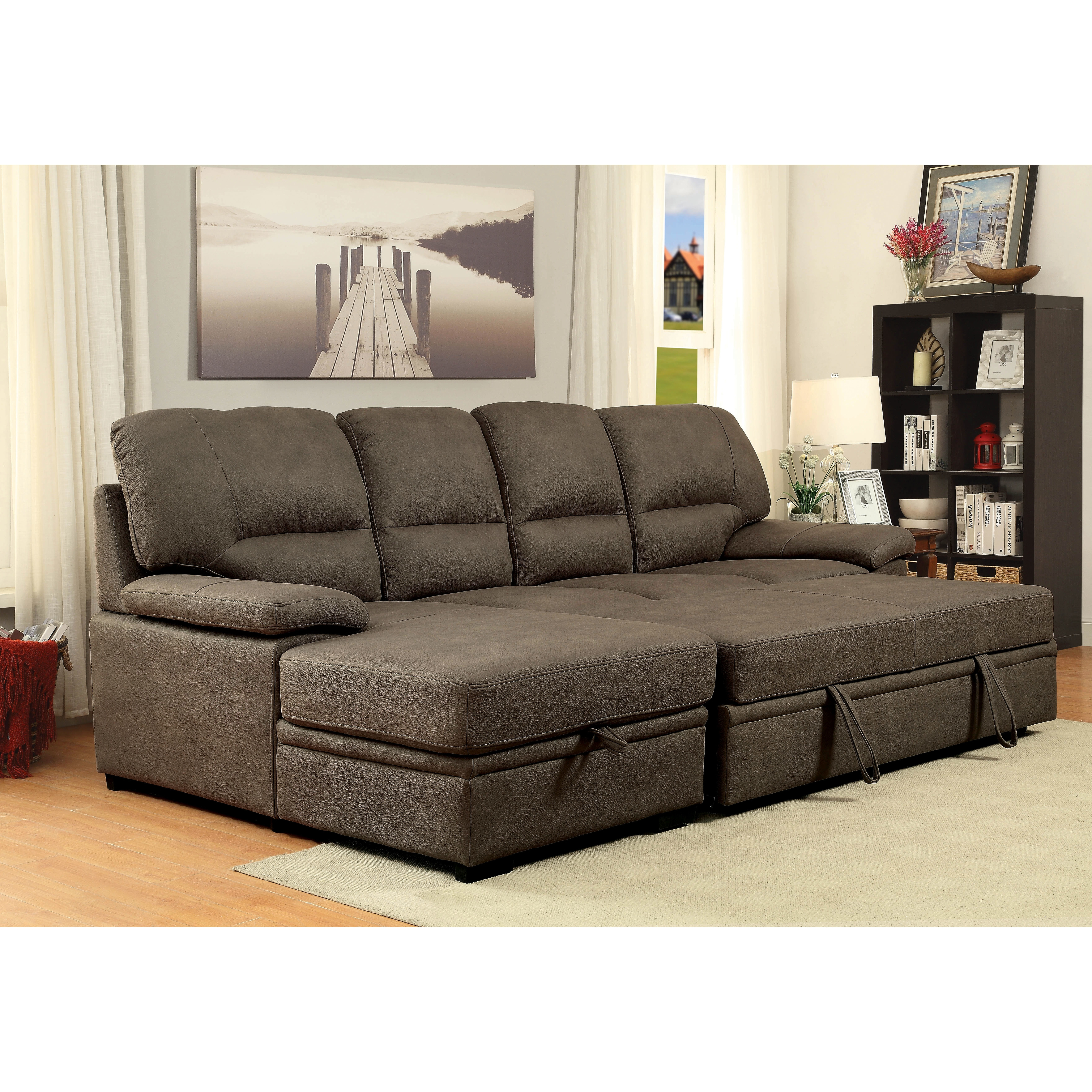 chenille furniture with sleeper contemporary sectionals of america piece convertible design subcat home ottoman garden for alina overstock sectional less sofas