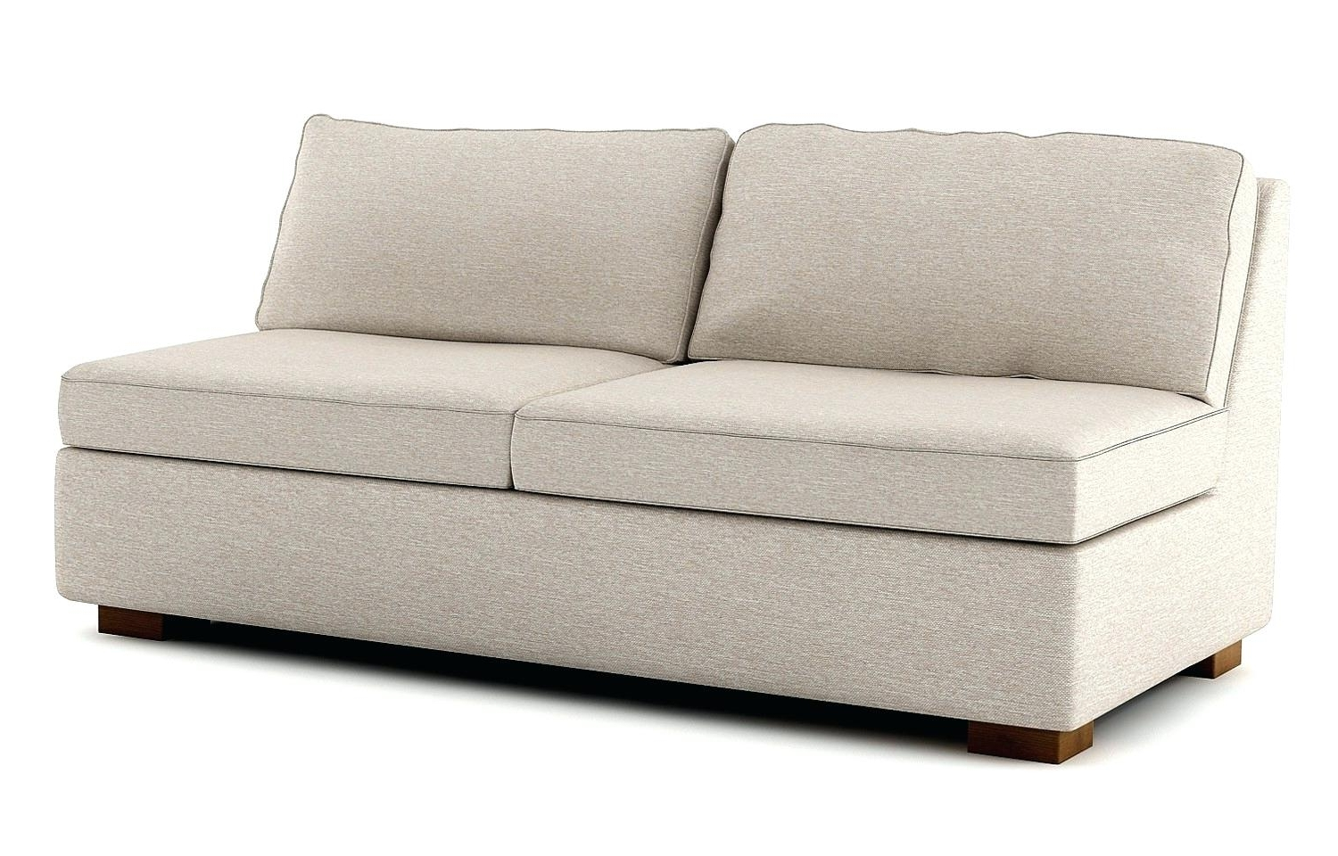 Small Armless Sofas Inside Fashionable Armless Sofas Small Sofa Uk Bed And Chairs – Poikilothermia (View 10 of 20)