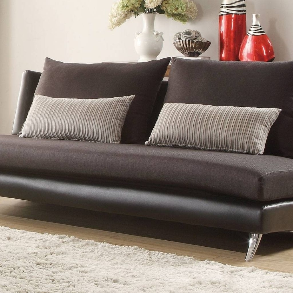 Small Armless Sofas Inside Most Popular Stylish Small Armless Sofa – Buildsimplehome (View 11 of 20)