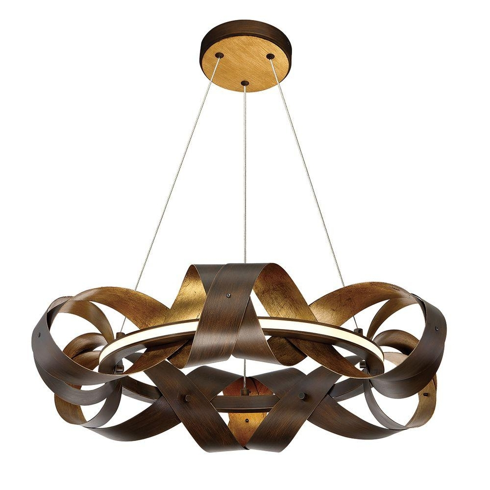 Small Bronze Chandelier Pertaining To Most Current Eurofase Banderia Collection 30 Watt Small Bronze Integrated Led (View 17 of 20)