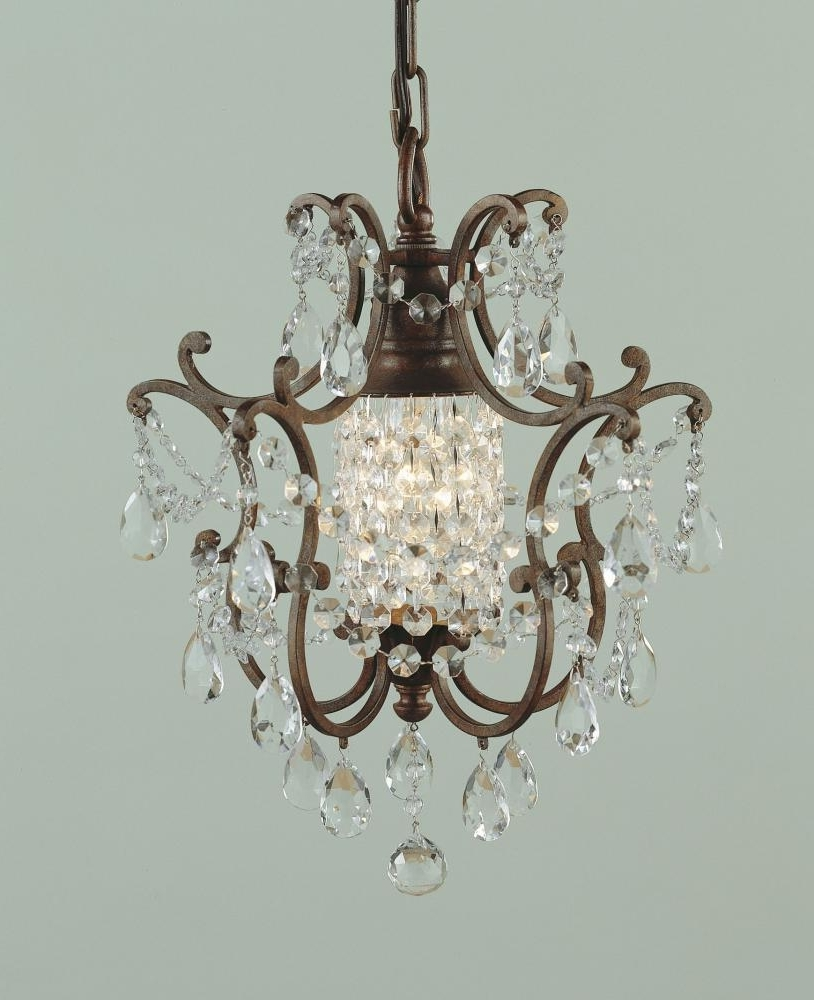Small Bronze Chandelier Pertaining To Most Current Feiss One Light British Bronze Up Mini Chandelier British Bronze (View 18 of 20)
