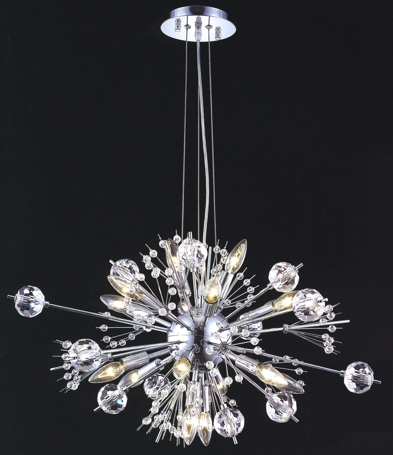 Small Chandeliers In Well Known Lighting 3400D24C/ec Crystal Cyclone Small Chandelier (View 15 of 20)