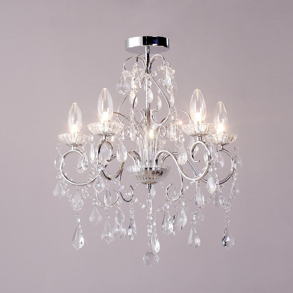 Small Chrome Chandelier Within Well Liked Vara 5 Light Bathroom Chandelier – Chrome (View 15 of 20)