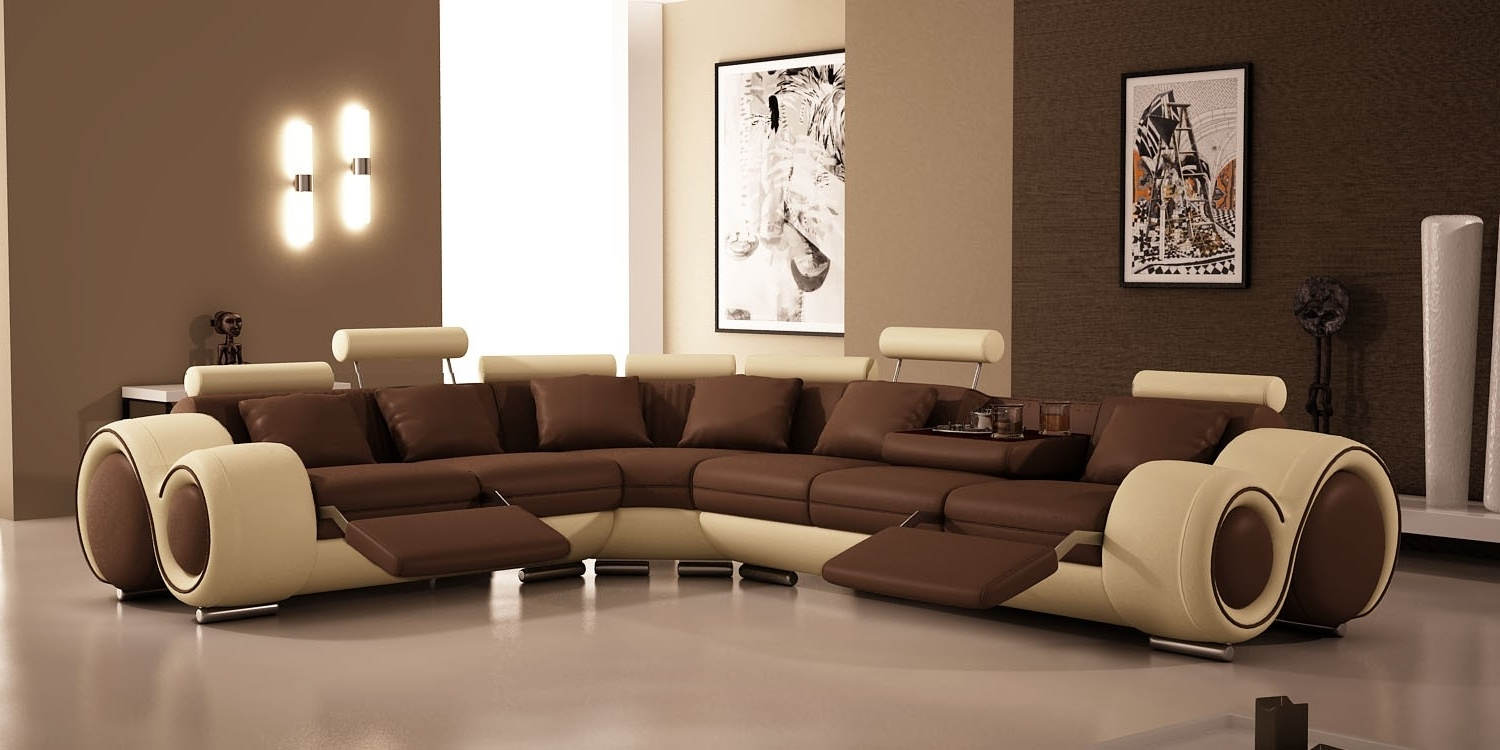 Small Contemporary Recliners Curved Sectional Sofa With Recliners With Regard To Famous Curved Sectional Sofas With Recliner (View 18 of 20)