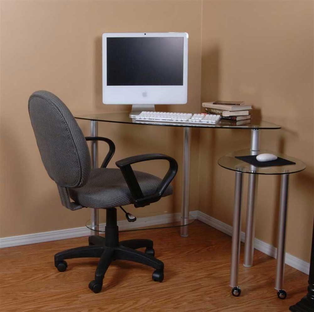 Small Corner Computer Desk Glass – New Furniture Regarding Newest Glass Corner Computer Desks (View 19 of 20)