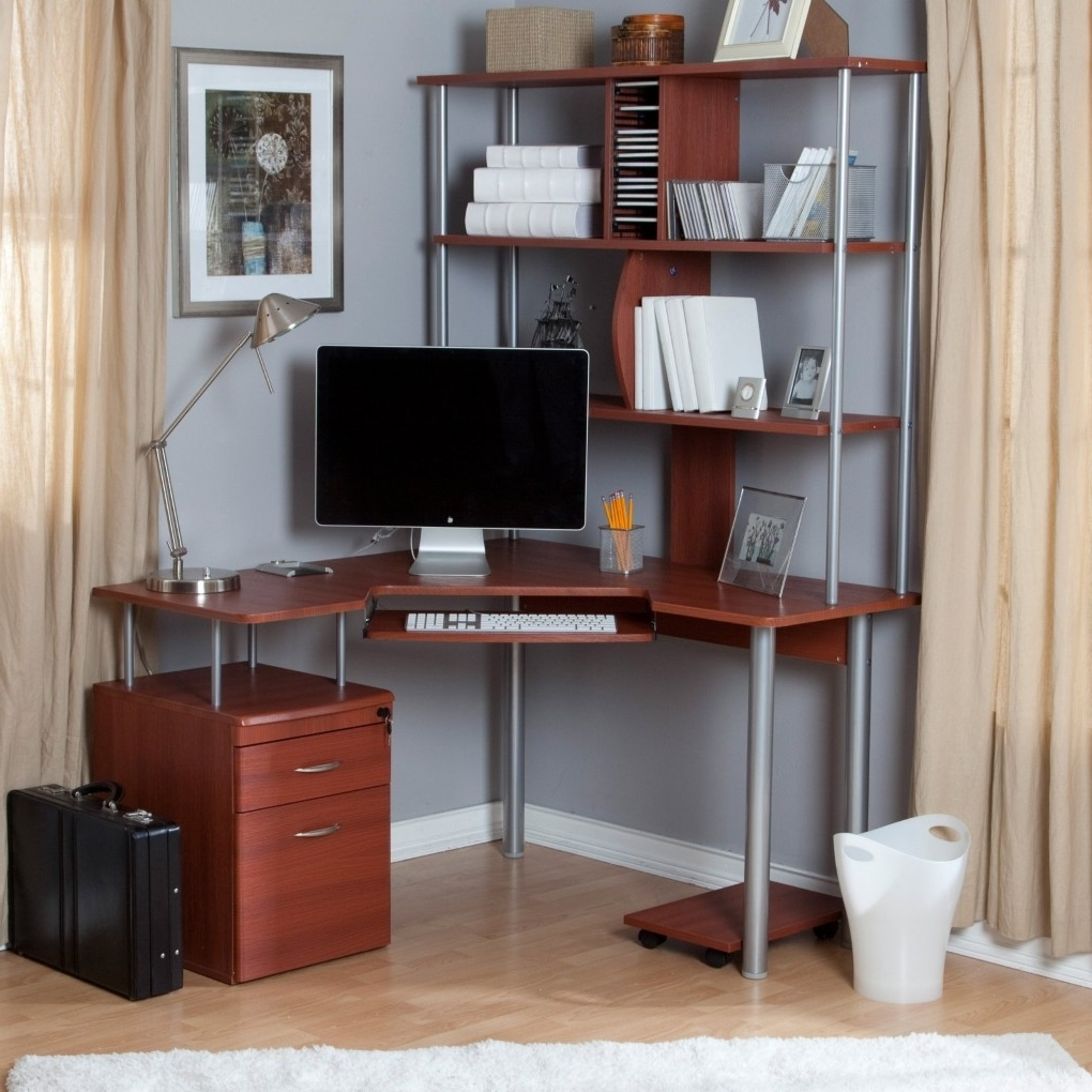 Small Corner Computer Desk Style : Simple And Small Corner Intended For Widely Used Computer Desks Under Stairs (Gallery 12 of 20)