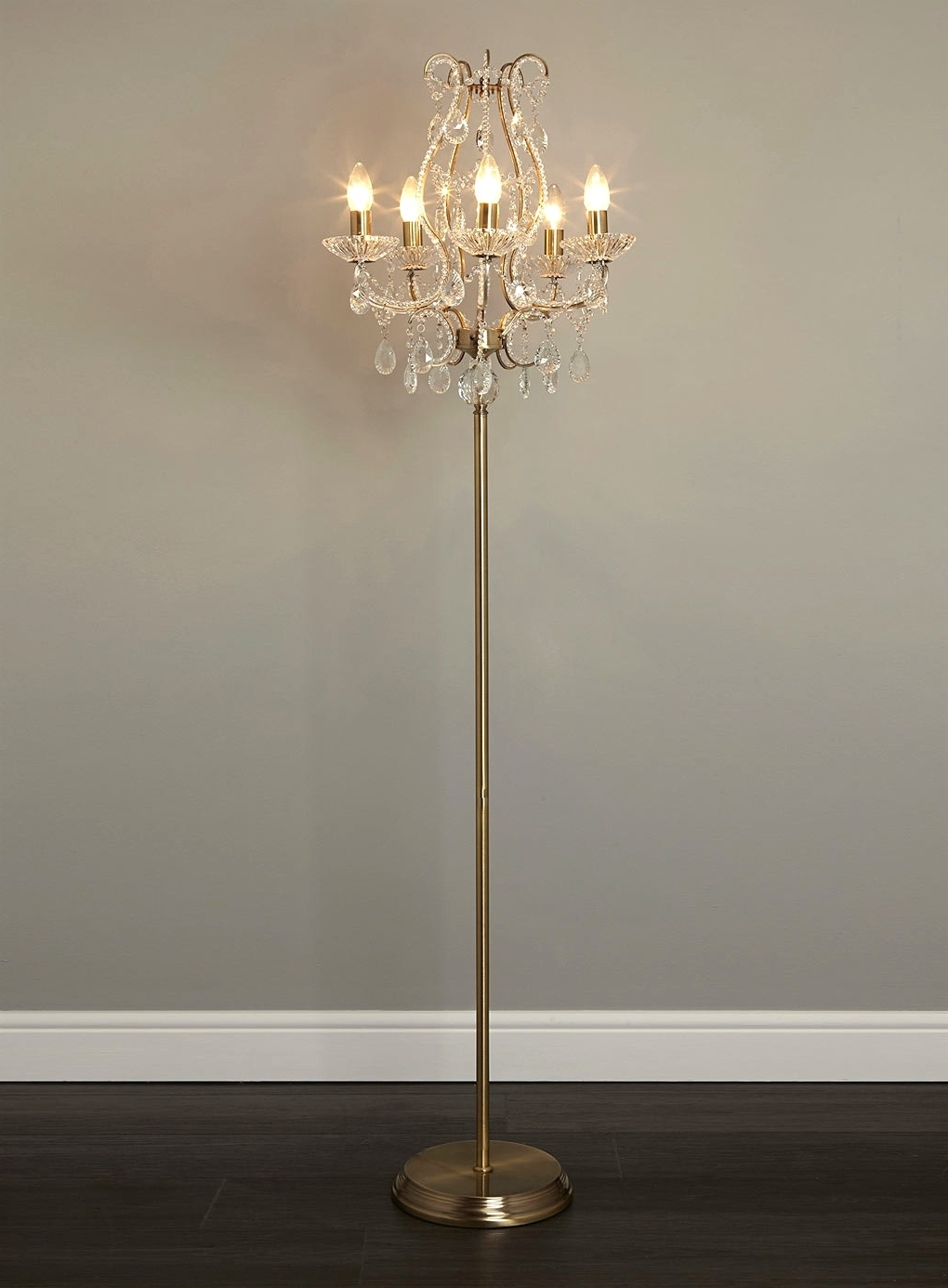 Small Crystal Chandelier Table Lamps Throughout Most Recently Released Light : Chandelier Floor Lamp Closeout With Thesecretconsul And (View 17 of 20)