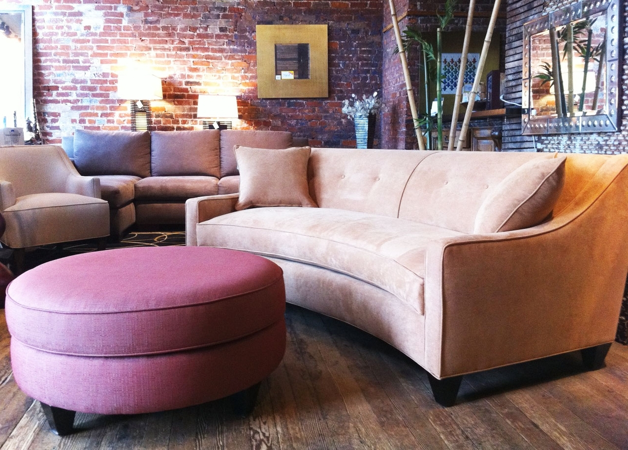 Small Curved Sectional Sofa Design For Small Space And Round For Most Popular Narrow Spaces Sectional Sofas (View 19 of 20)