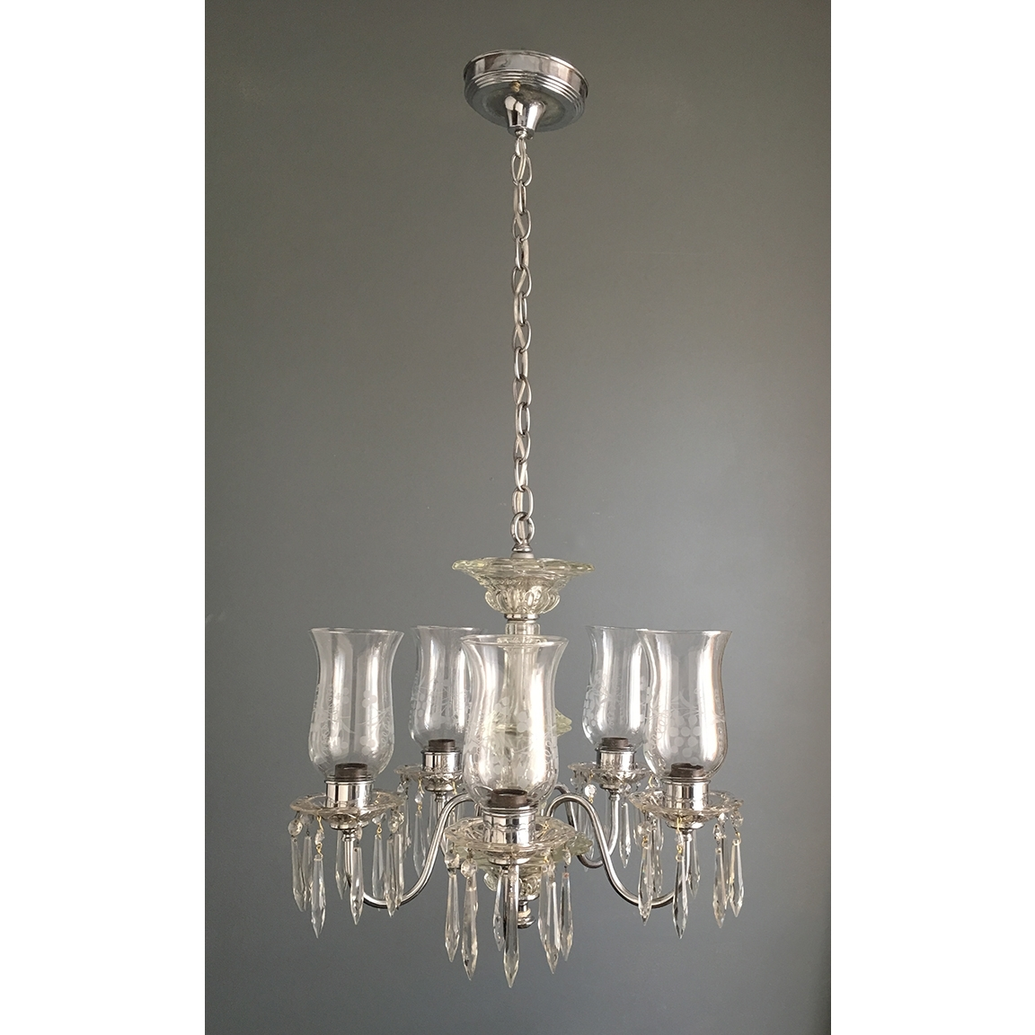 Small Glass Chandeliers Inside Preferred Light : Chrome And Glass Chandelier Antique Ceiling Fixtures (View 10 of 20)