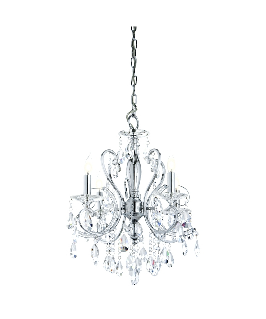 Small Glass Chandeliers Regarding Best And Newest Light : Modern Chrome Jewel Ceiling Light Chandelier Lampschrome (View 19 of 20)