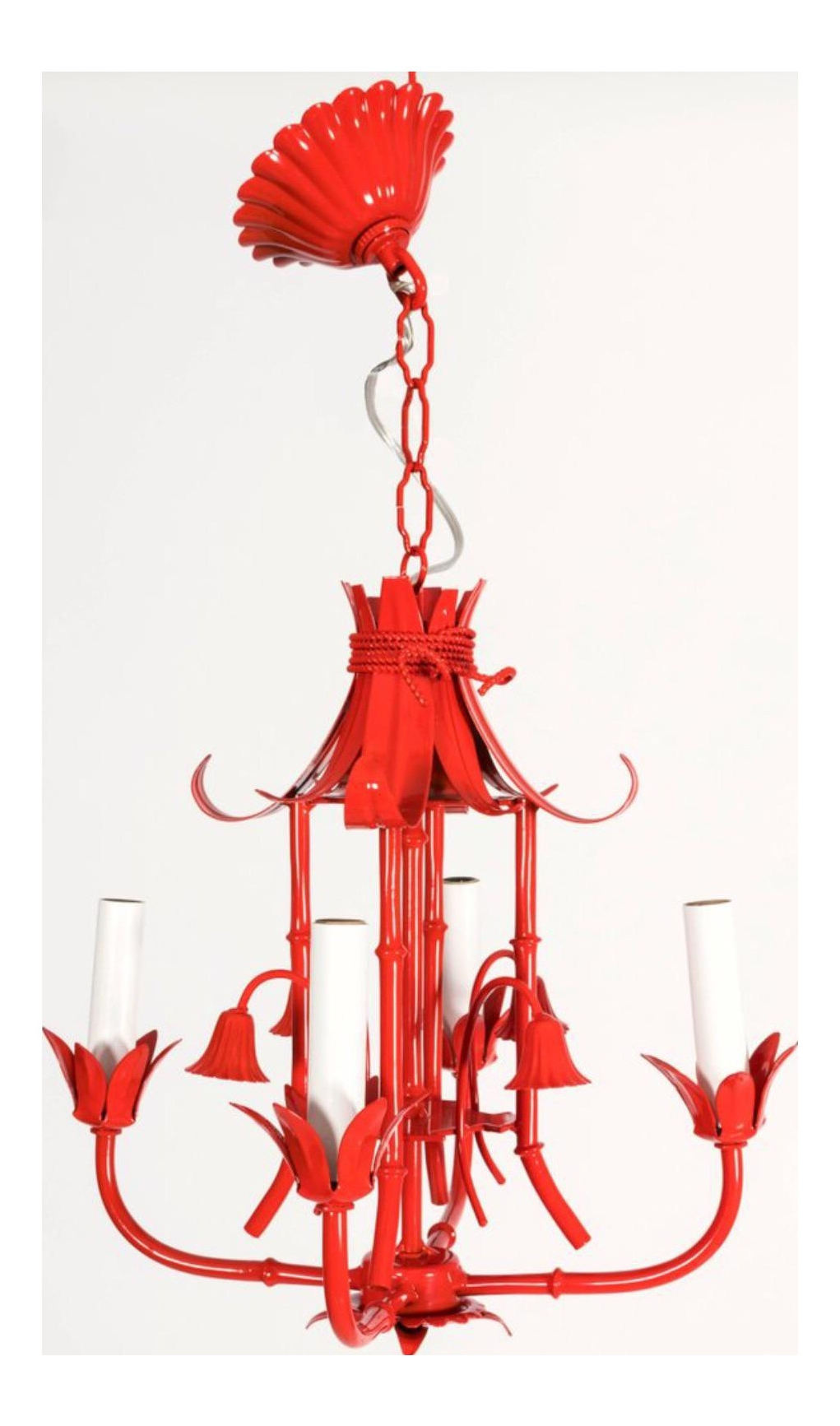Small Red Chandelier With Regard To Well Known Red Chandelier Elegant Chinoiserie Pagoda Small Red Chandelier (View 16 of 20)