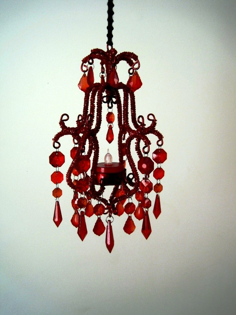 Featured Photo of Small Red Chandelier