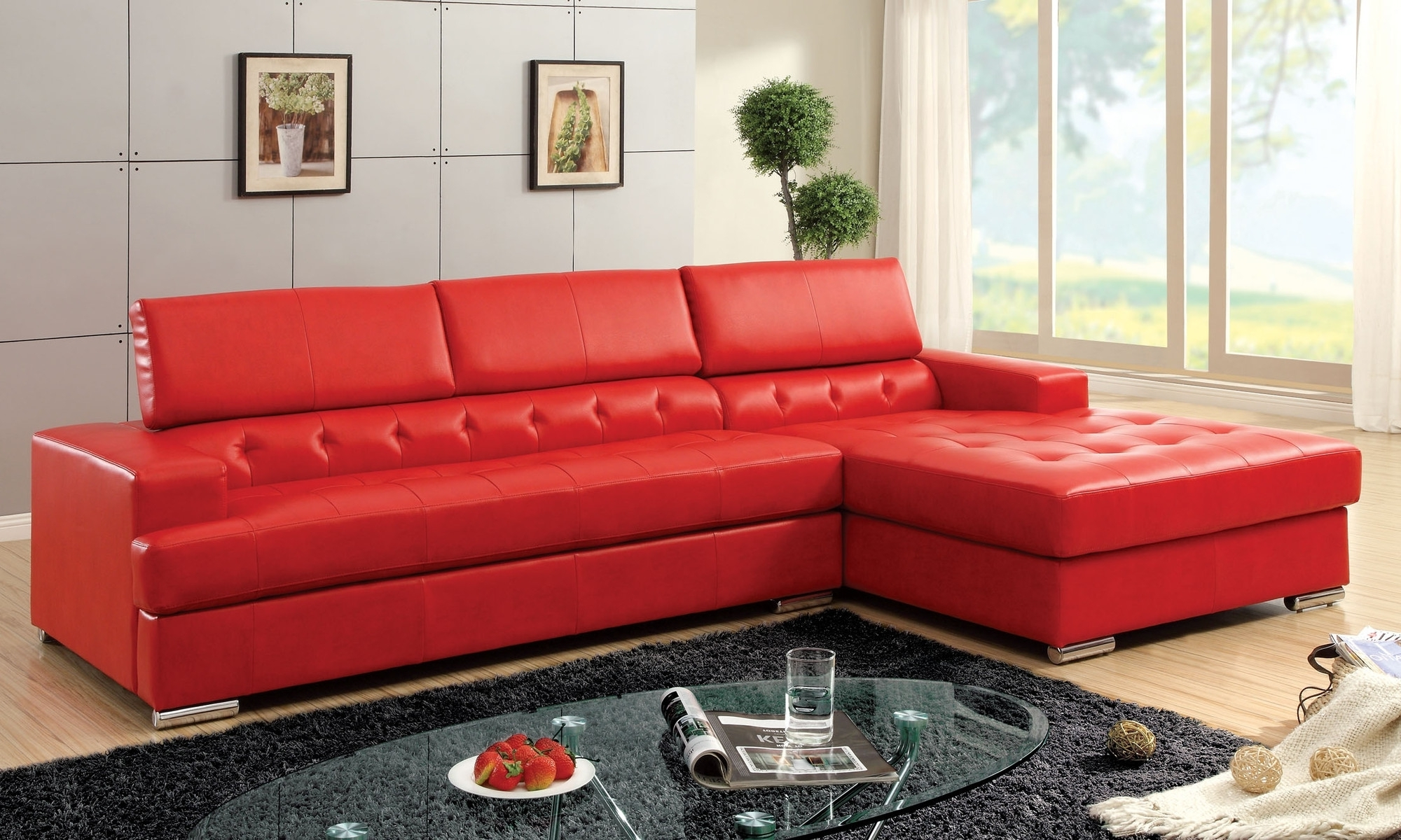 Small Red Leather Sectional Sofa • Leather Sofa Regarding Favorite Small Red Leather Sectional Sofas (View 12 of 20)