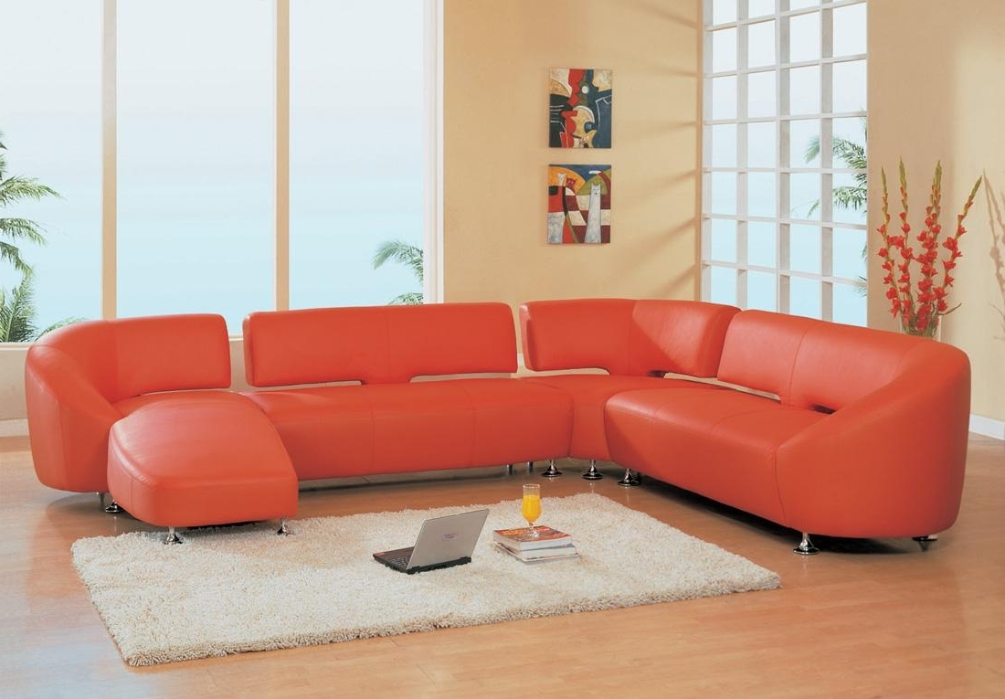 Small Red Leather Sectional Sofas Regarding Most Popular Living Room (View 16 of 20)