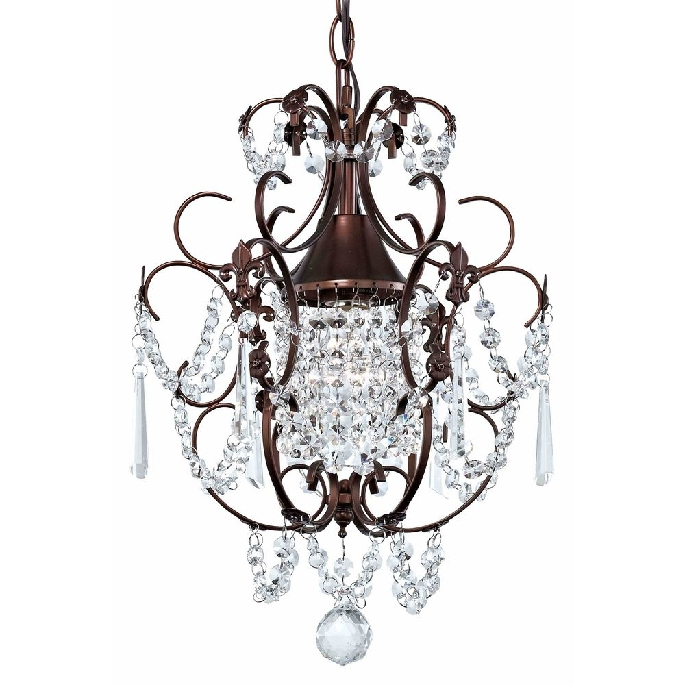 Small Rustic Crystal Chandeliers With Regard To Best And Newest Chandeliers Design : Fabulous Farmhouse Lighting Black Chandelier (View 18 of 20)