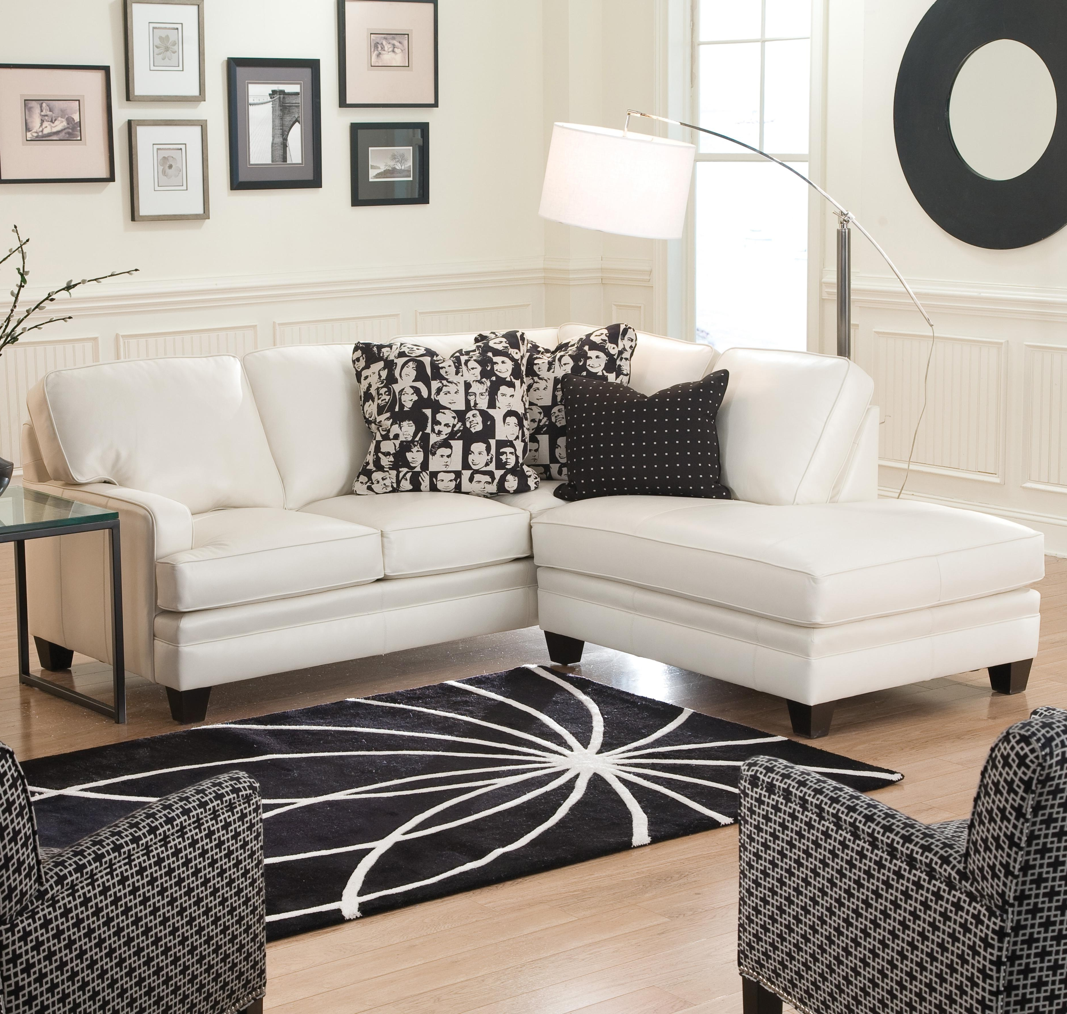 Small Sectional Sofas Intended For Popular Small Sectional Sofa With Contemporary Looksmith Brothers (View 8 of 20)