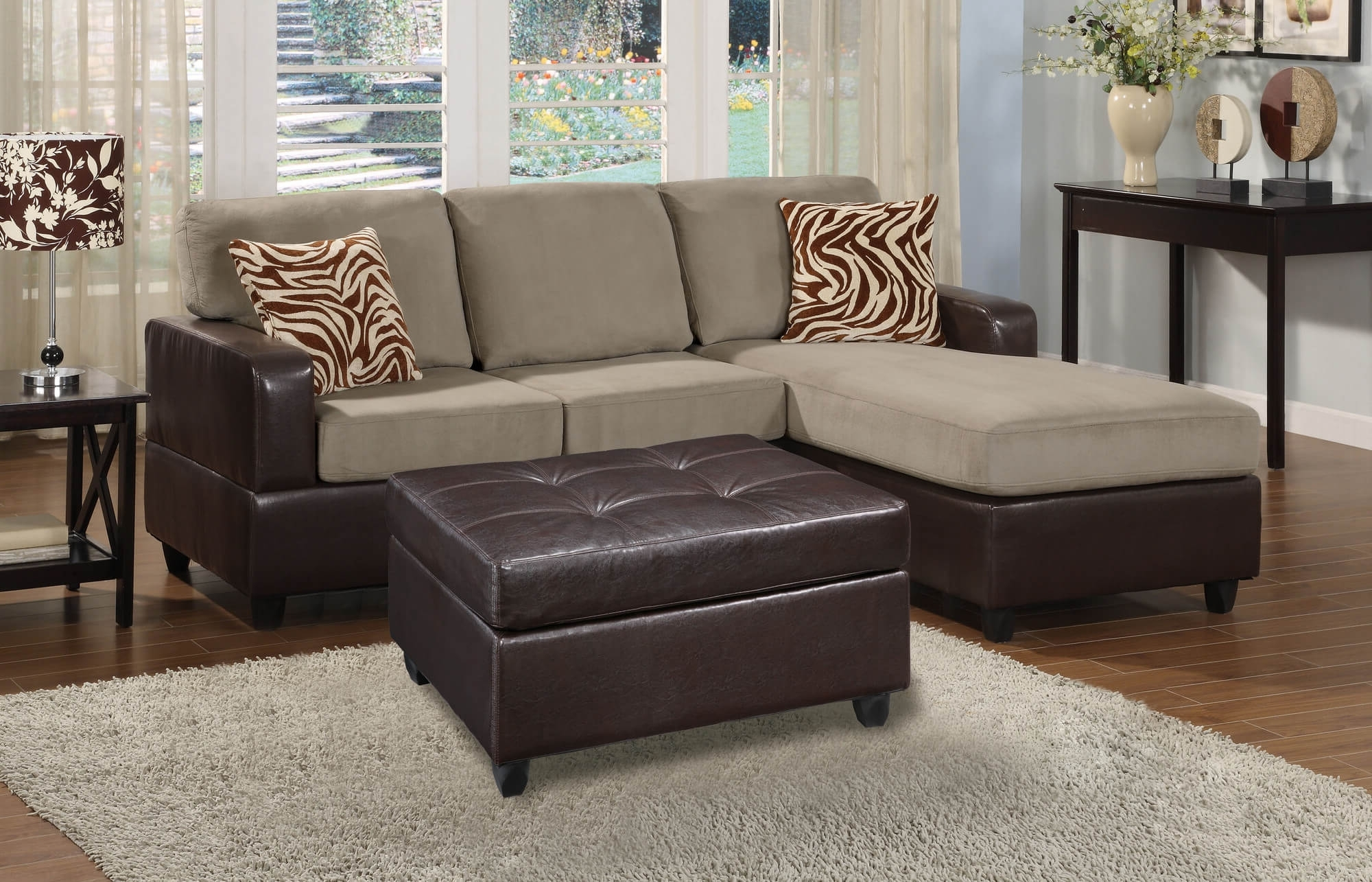 Small Sectional Sofas With Chaise And Ottoman Regarding Most Current 100 Awesome Sectional Sofas Under $1,000 (2018) (Gallery 7 of 20)