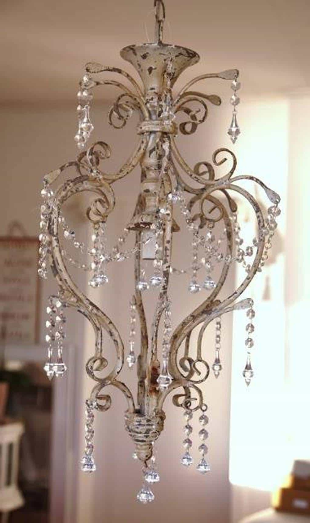 Small Shabby Chic Chandelier For Trendy Vintage Small Shabby Chic Chandeliers : Lovely Shabby Chic (View 14 of 20)