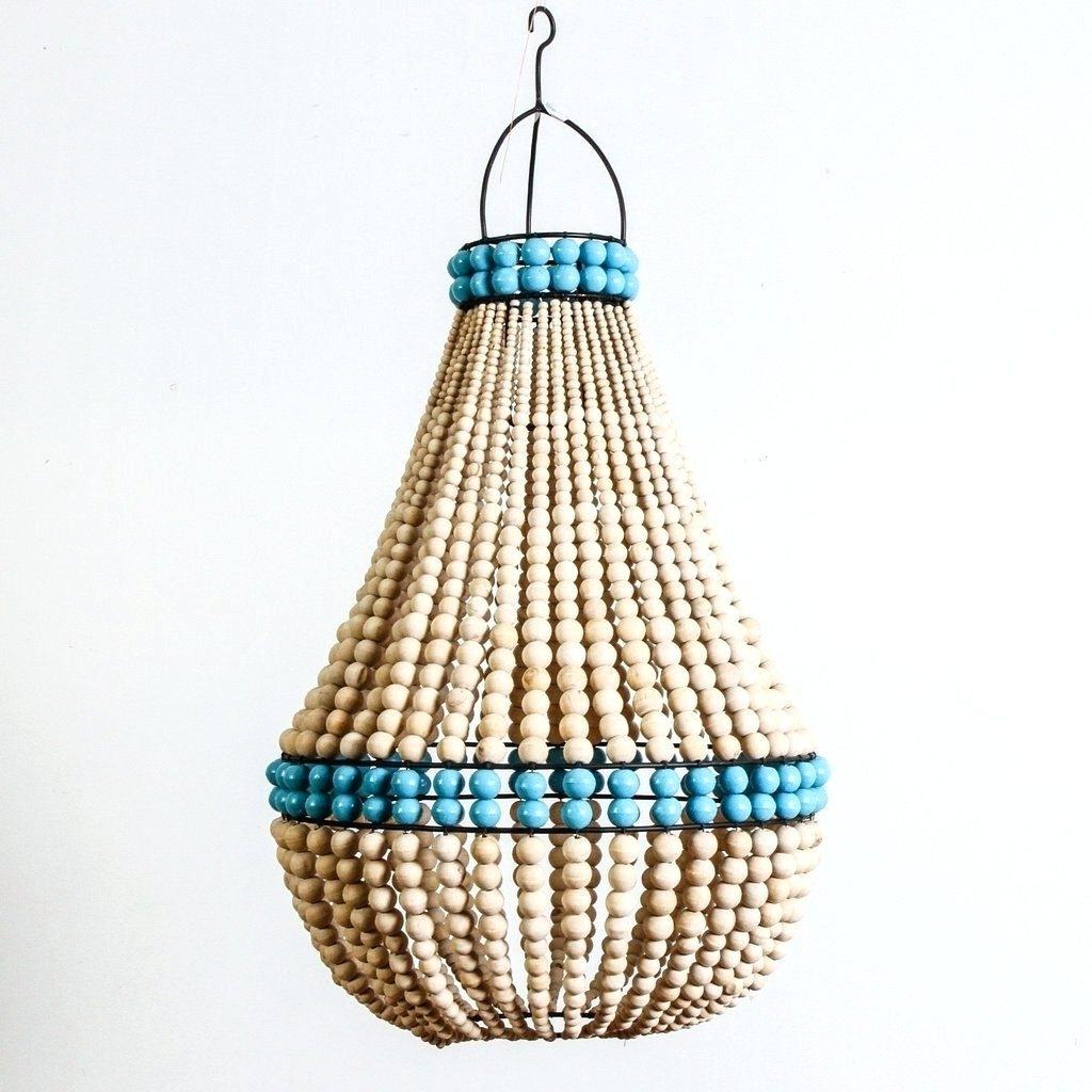 Small Turquoise Beaded Chandeliers Regarding Well Known Chandeliers ~ Blue Beaded Chandelier Turquoise Beads Six Light (View 5 of 20)